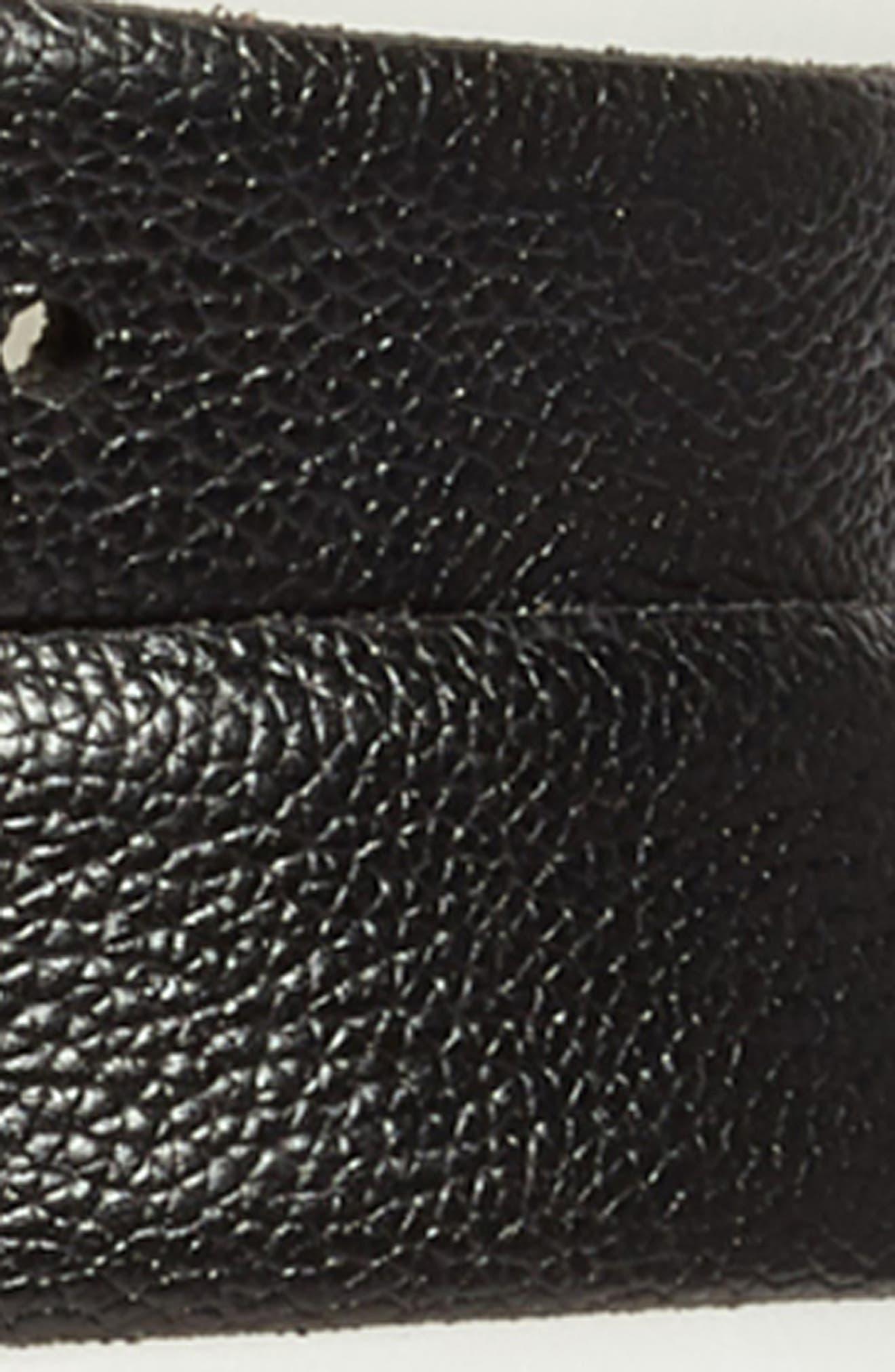 Double Wrap Leather Stretch Belt,                             Alternate thumbnail 3, color,                             001