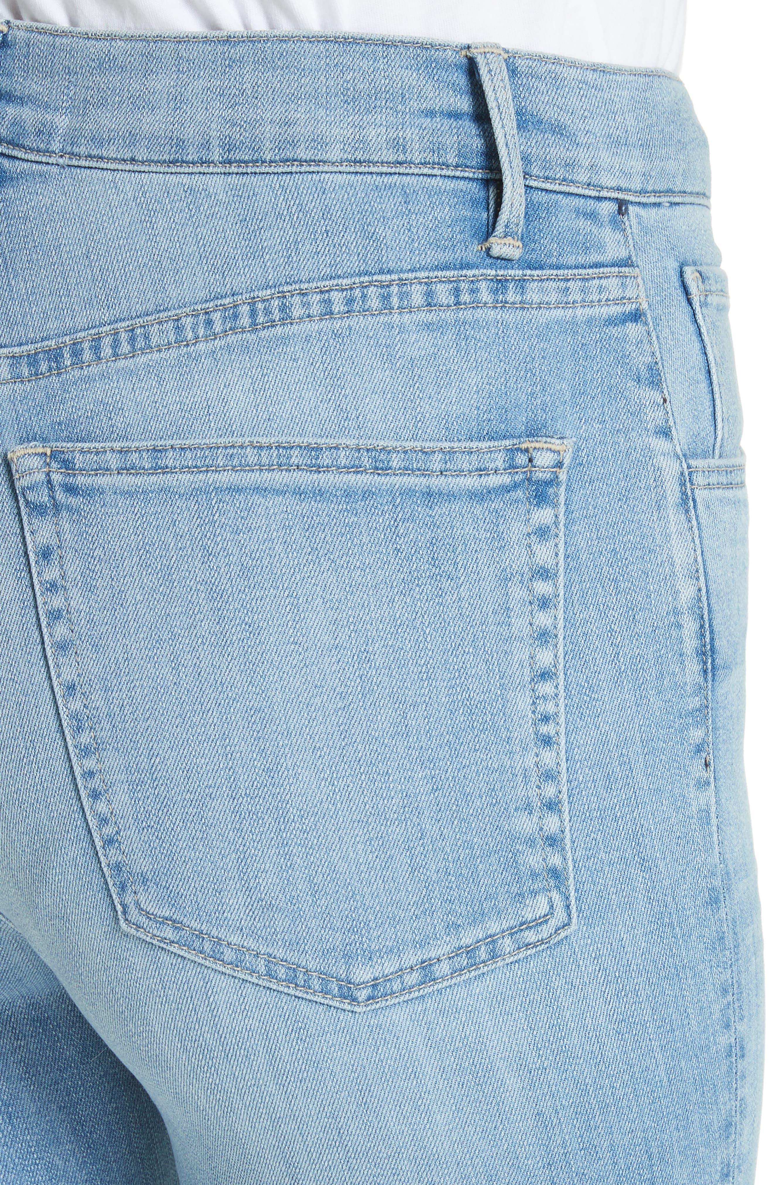 W4 Colette Crop Skinny Jeans,                             Alternate thumbnail 4, color,                             CARLO