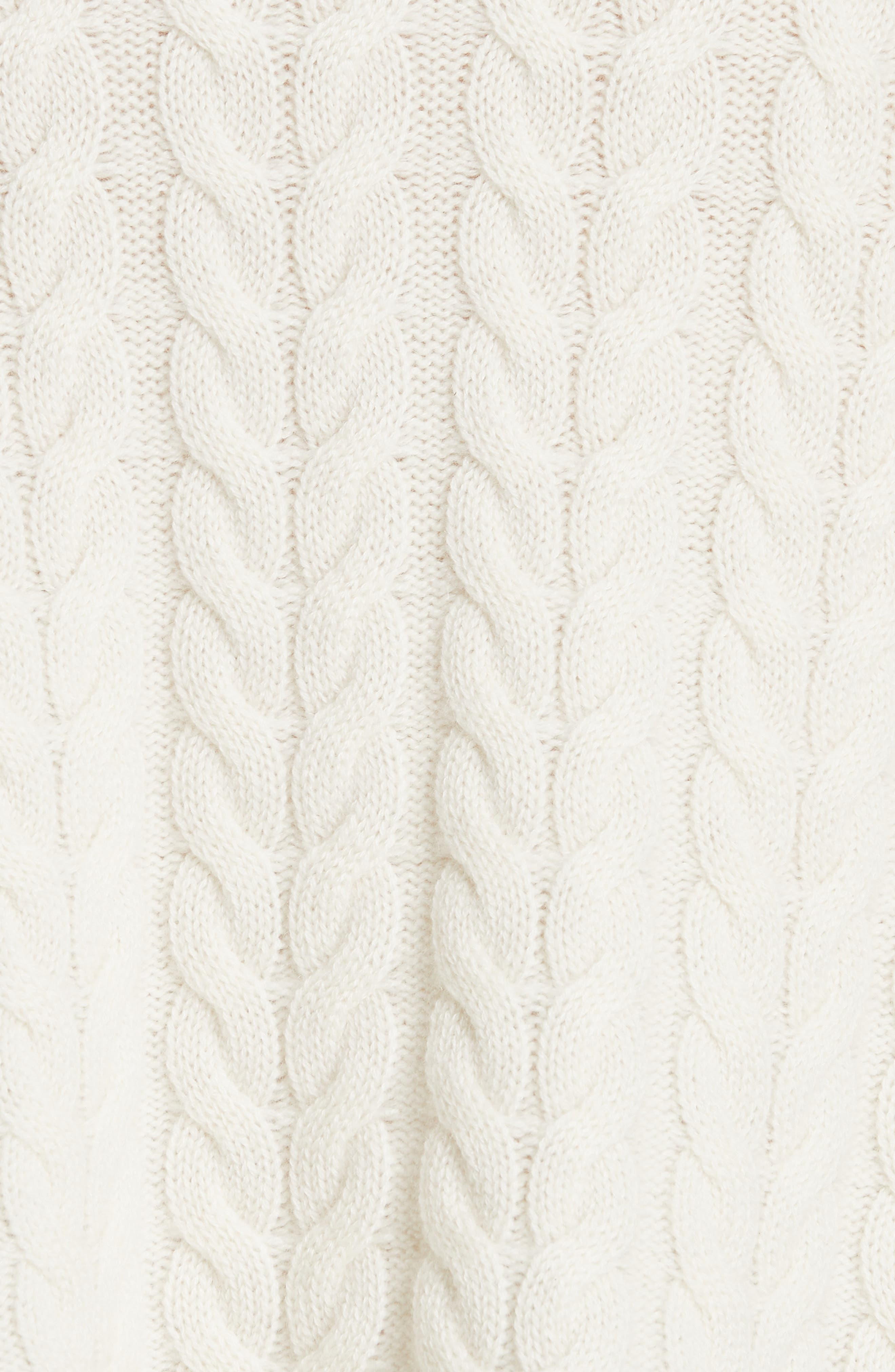 Cable Cashmere Sweater,                             Alternate thumbnail 5, color,                             IVORY/ IVORY
