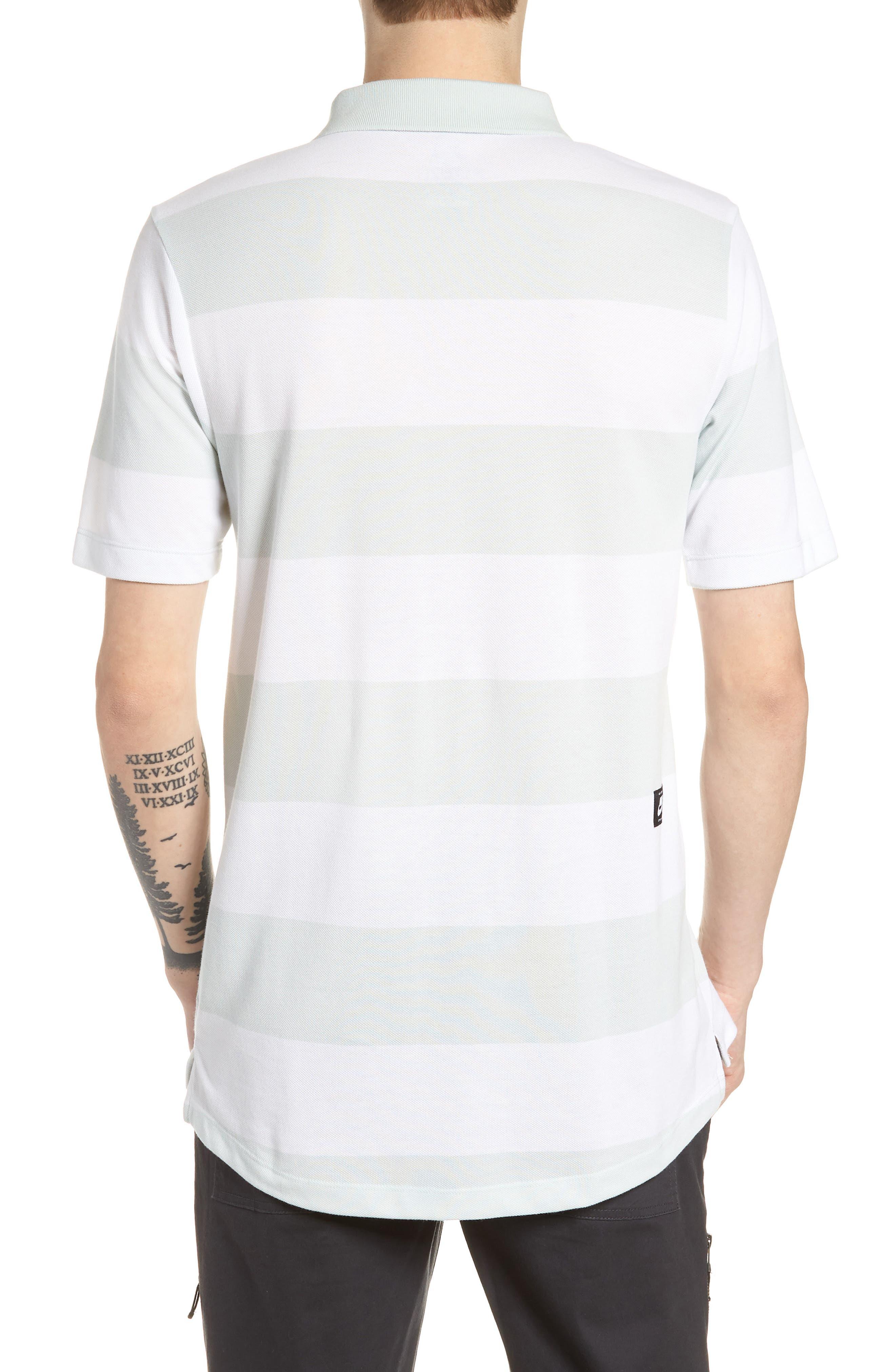 SB Dry Stripe Polo Shirt,                             Alternate thumbnail 2, color,                             BARELY GREY/ BARELY GREY
