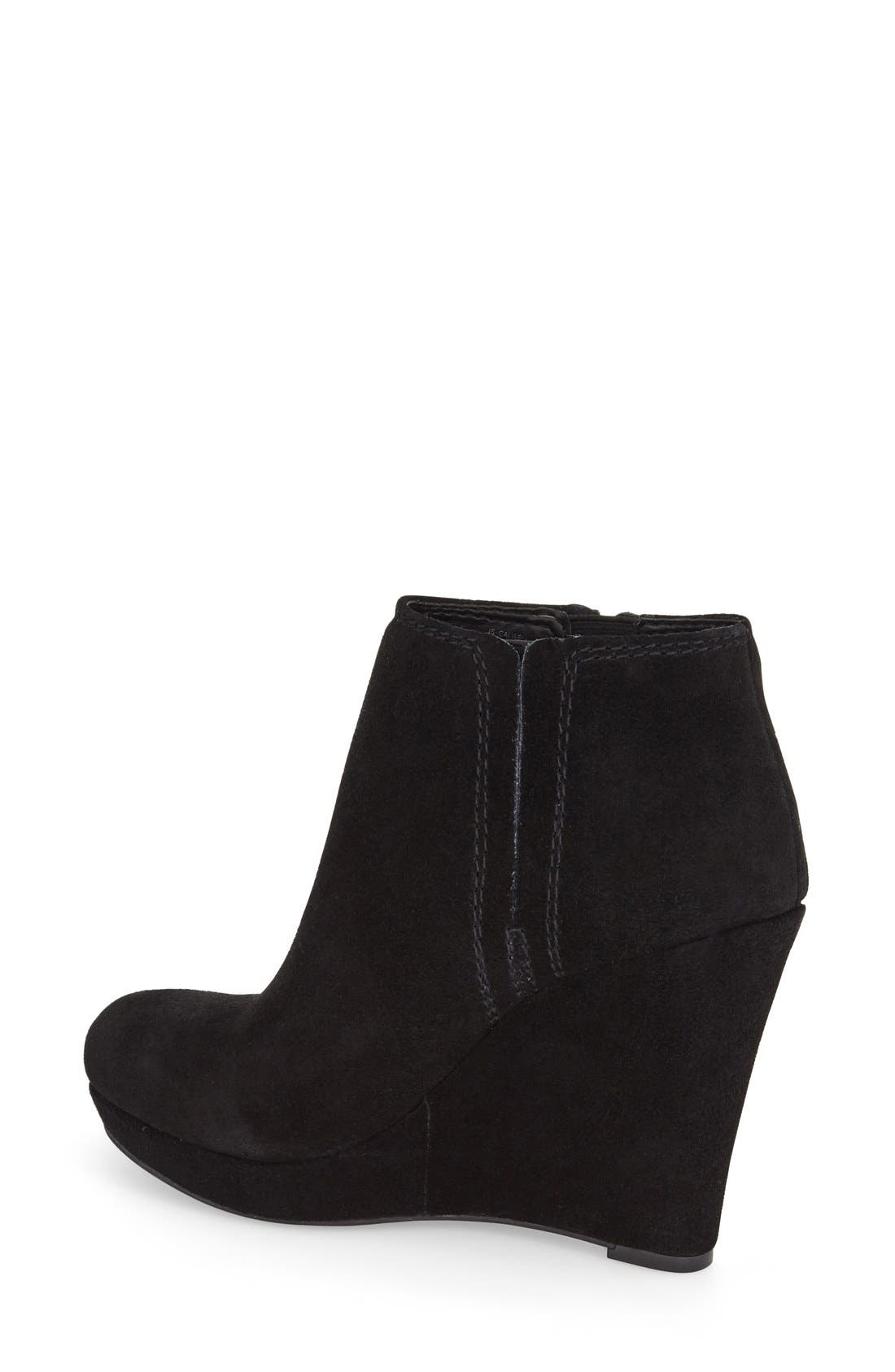 'Calwell' Wedge Bootie,                             Alternate thumbnail 3, color,                             001