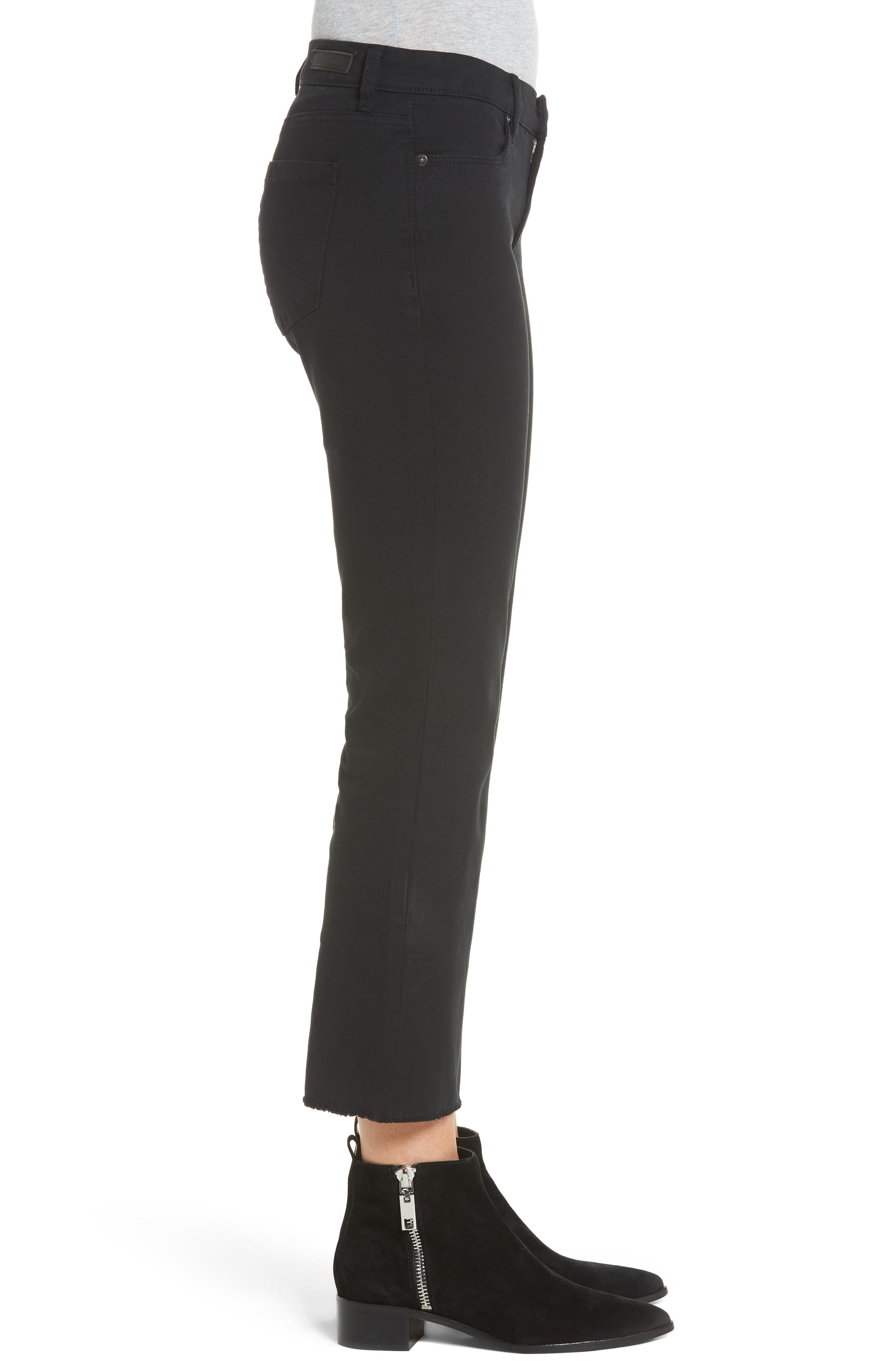 Canvas Cropped Kick Flare Jeans,                             Alternate thumbnail 3, color,                             001