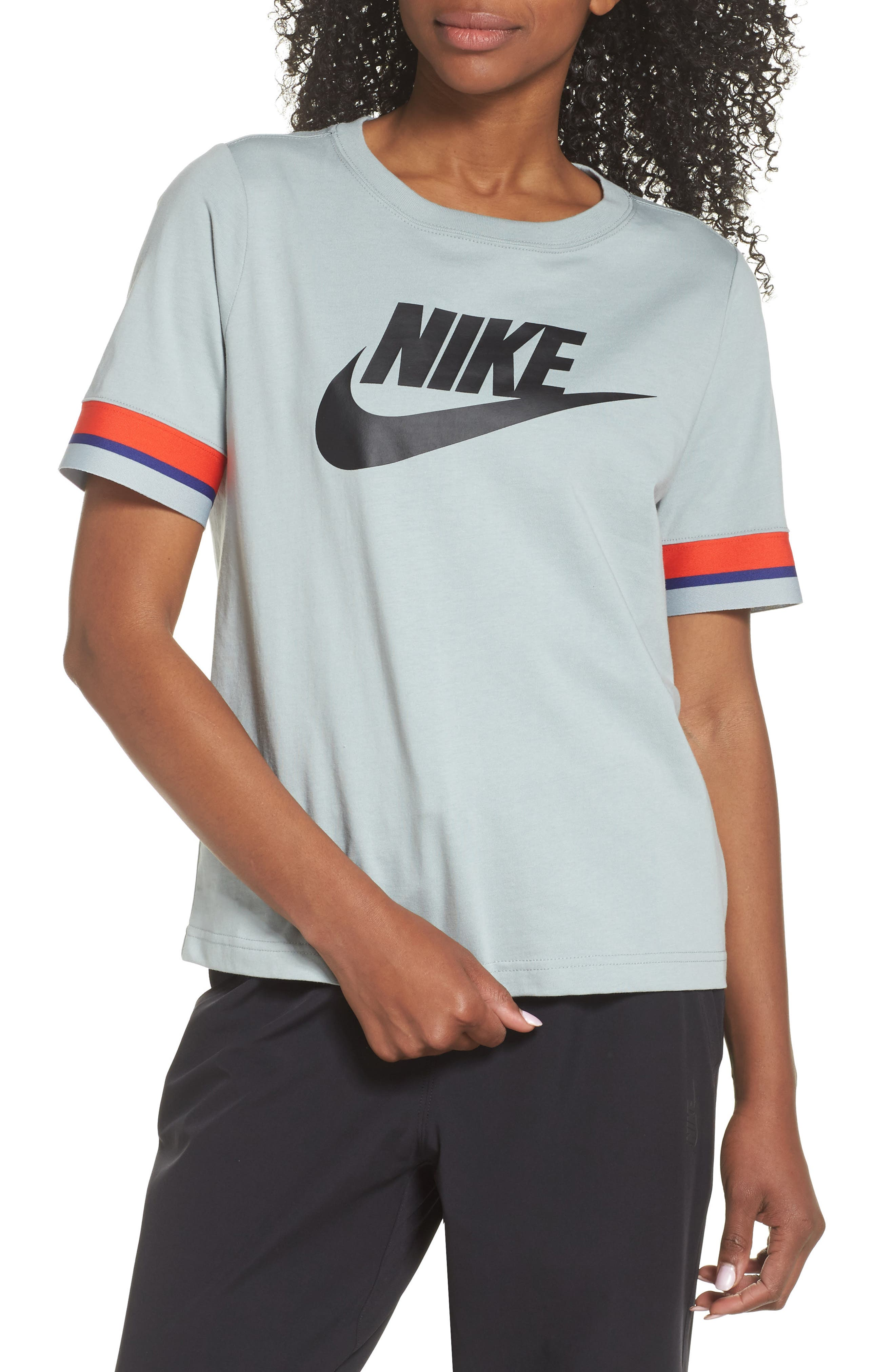 Sportswear Stripe Sleeve Tee,                             Main thumbnail 1, color,                             020
