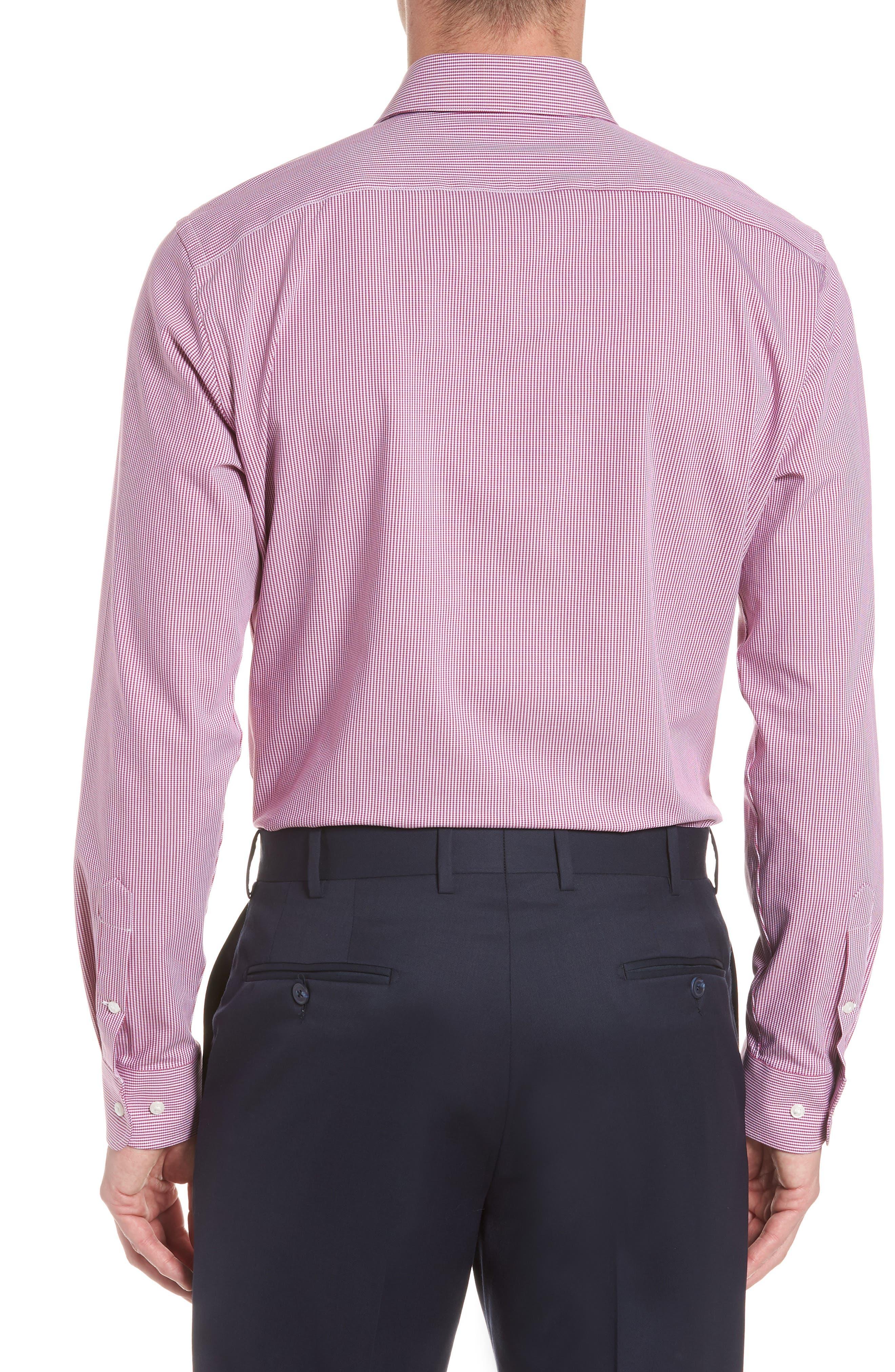 Tech-Smart Trim Fit Houndstooth Dress Shirt,                             Alternate thumbnail 6, color,