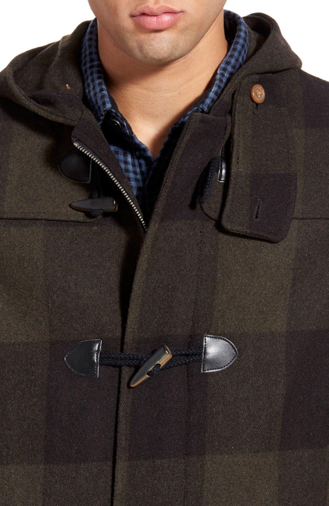 ORIGINAL PENGUIN,                             'Paddington' Wool Blend Duffle Coat,                             Alternate thumbnail 3, color,                             019