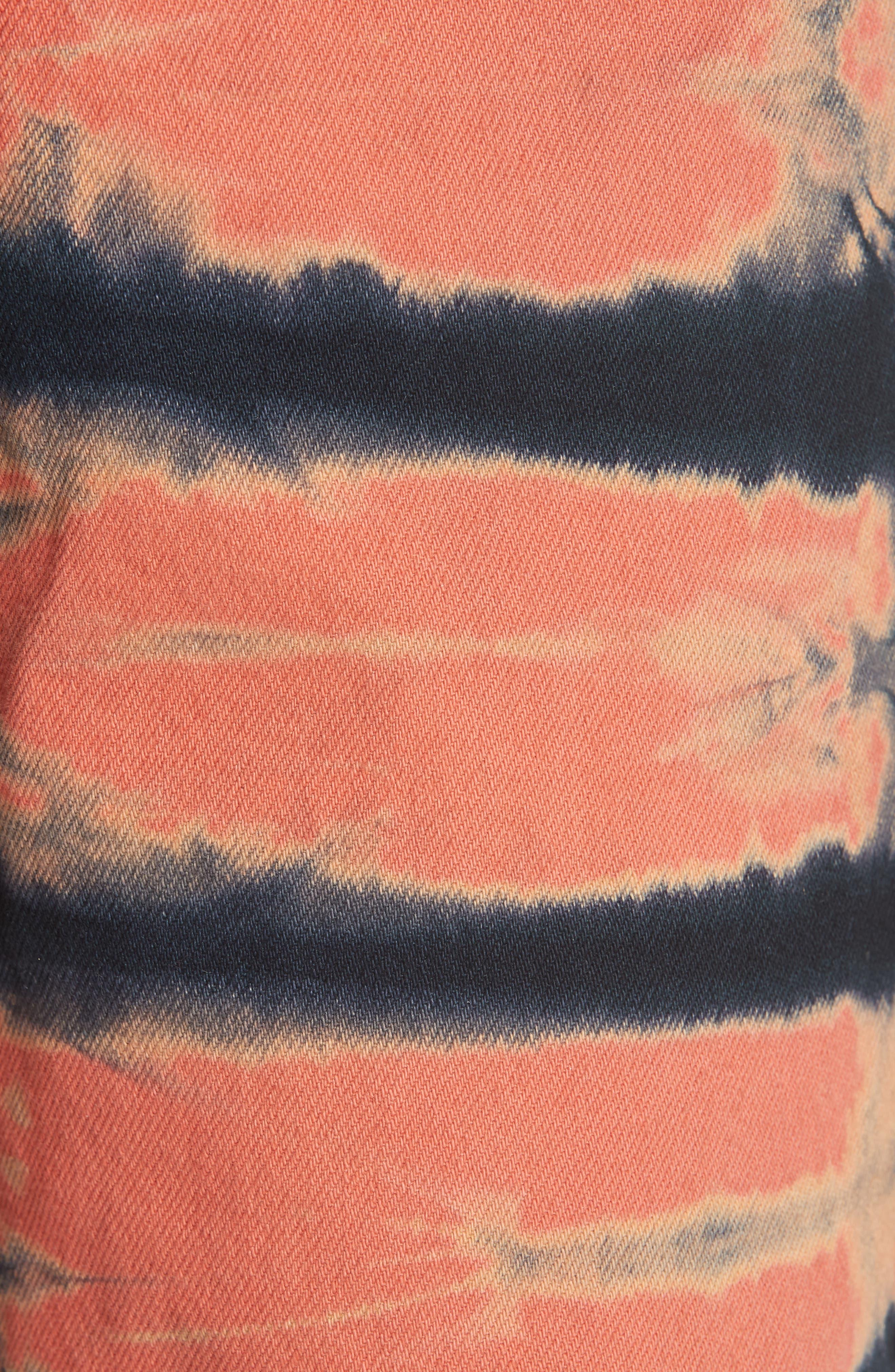 Tie Dye Wide Leg Jeans,                             Alternate thumbnail 5, color,                             SHI-SHIBORI