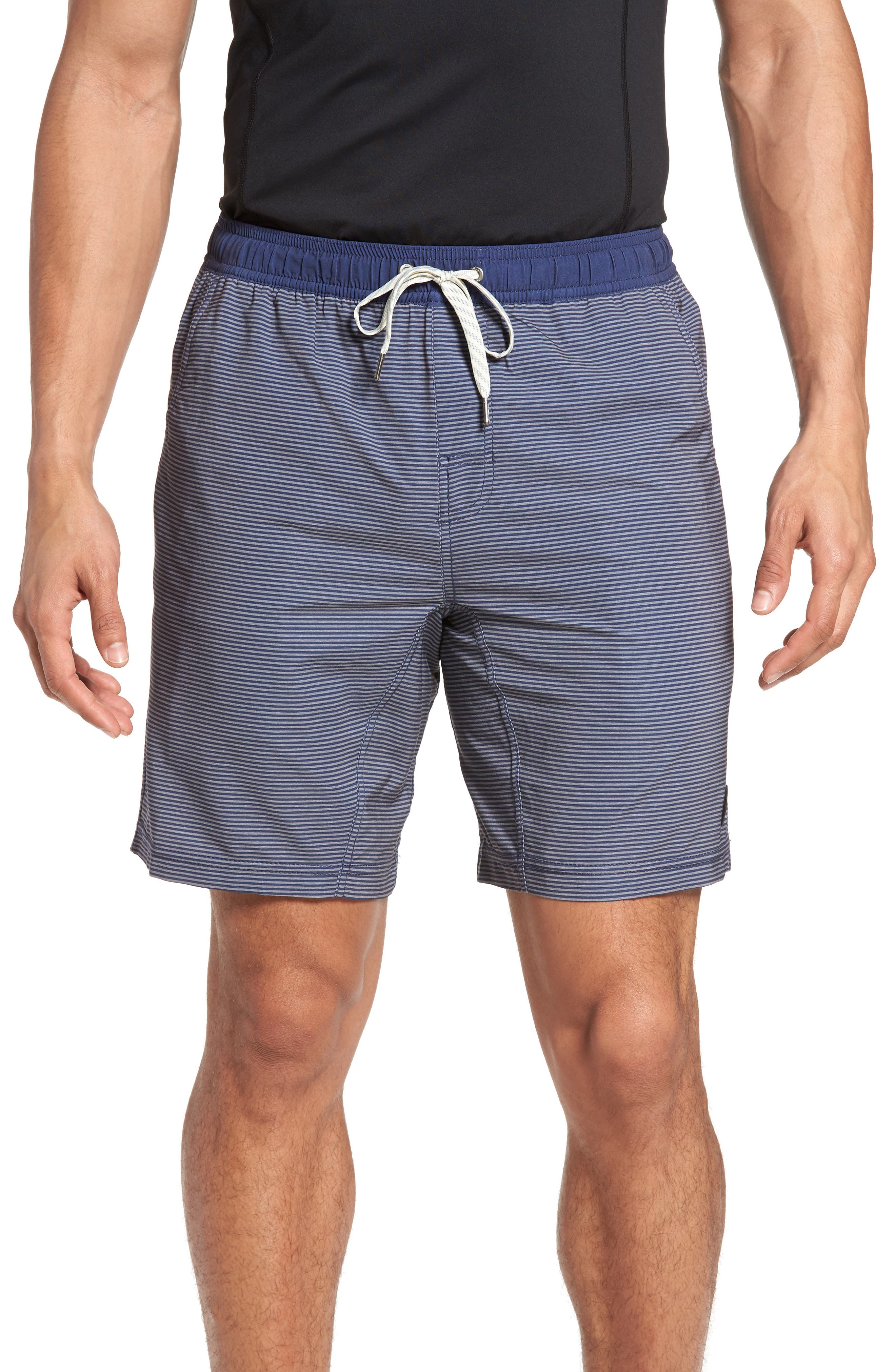 Kore Performance Shorts,                         Main,                         color, NAVY CHARCOAL STRIPE