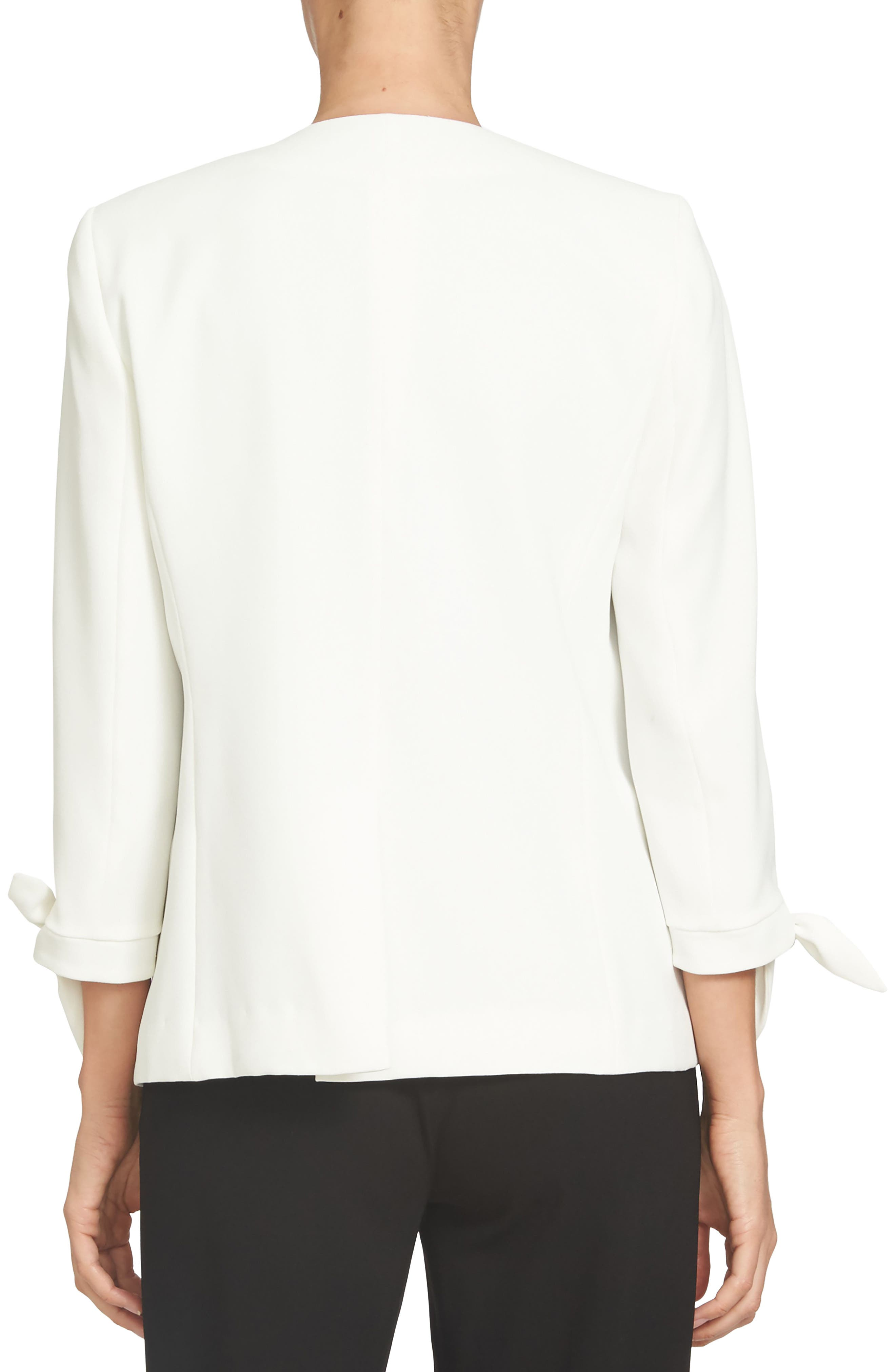 Tie Sleeve Open Front Blazer,                             Alternate thumbnail 2, color,                             NEW IVORY