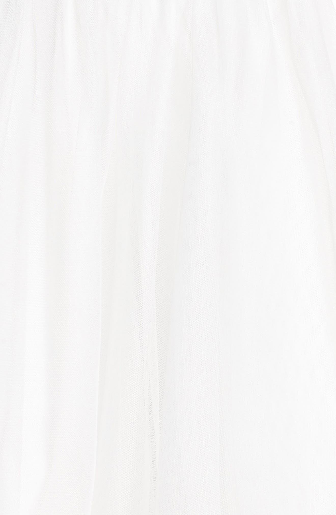 Keyhole Appliqué Fit & Flare Dress,                             Alternate thumbnail 5, color,                             474
