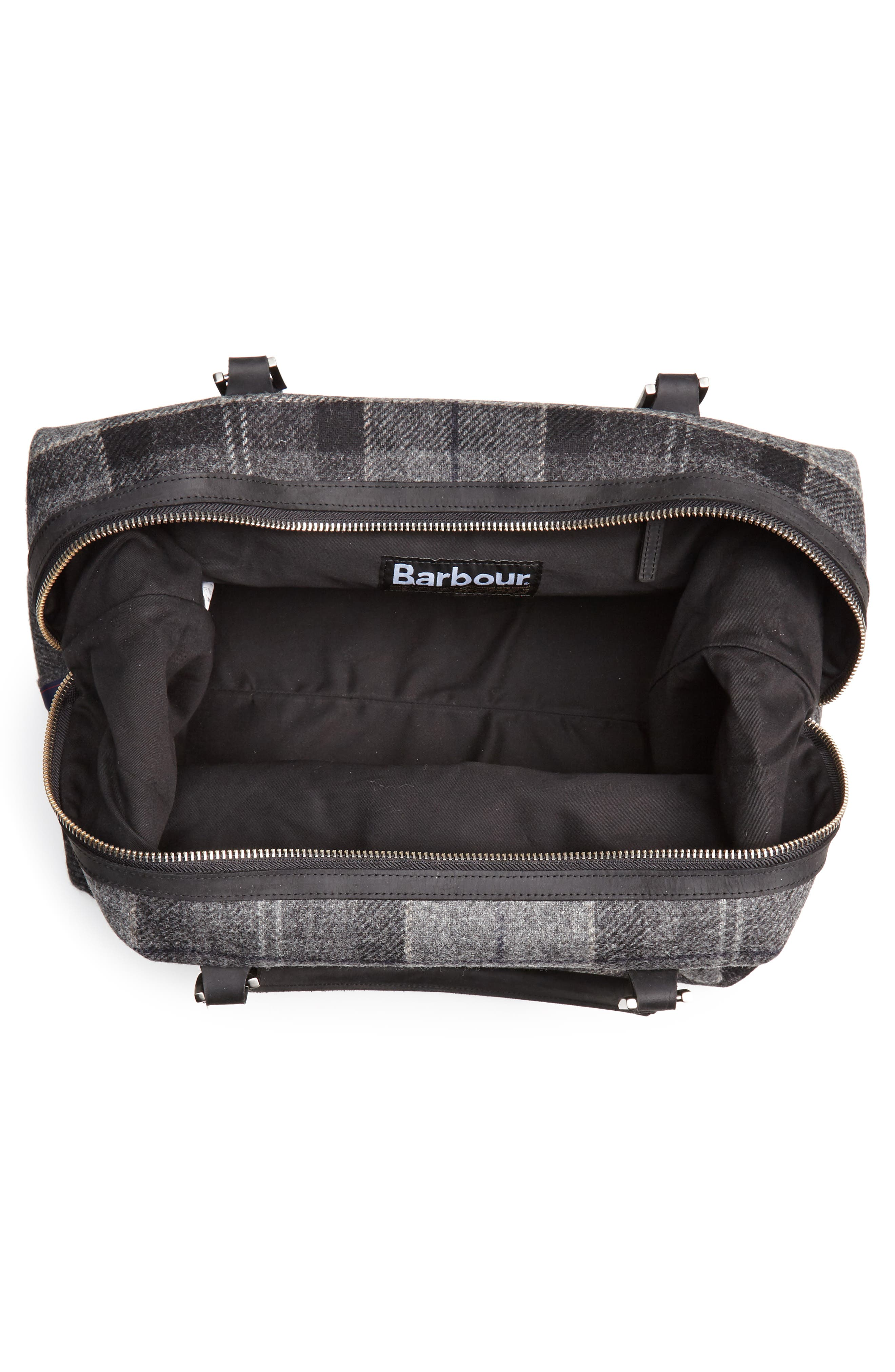 Shadow Duffel Bag,                             Alternate thumbnail 4, color,                             BLACK/ GREY TARTAN
