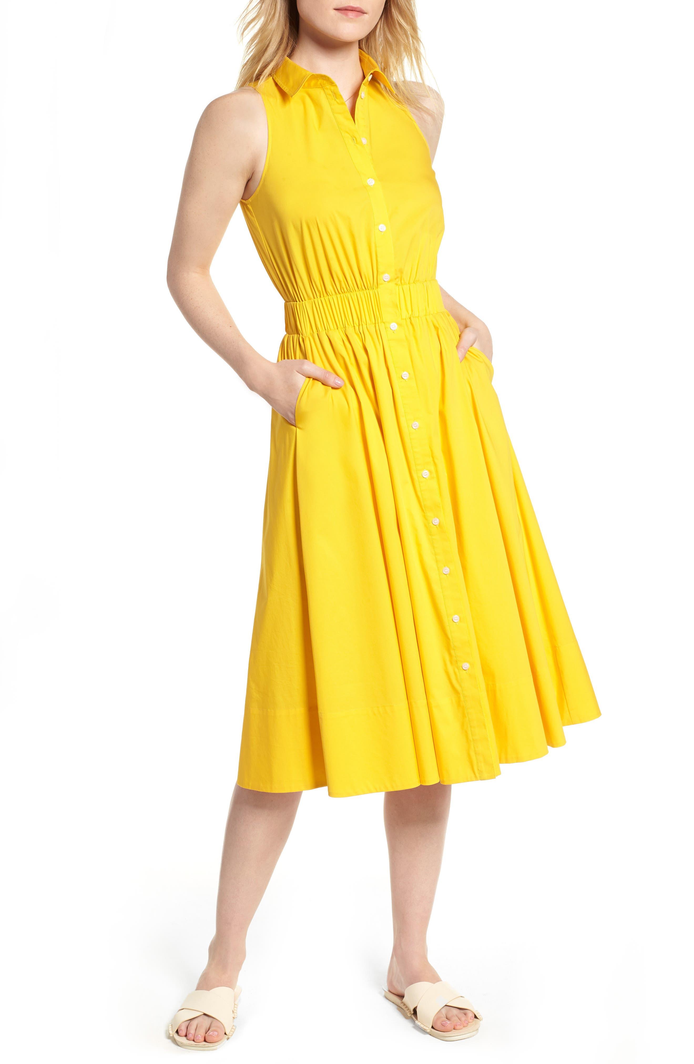 Sleeveless Shirtdress,                             Main thumbnail 4, color,
