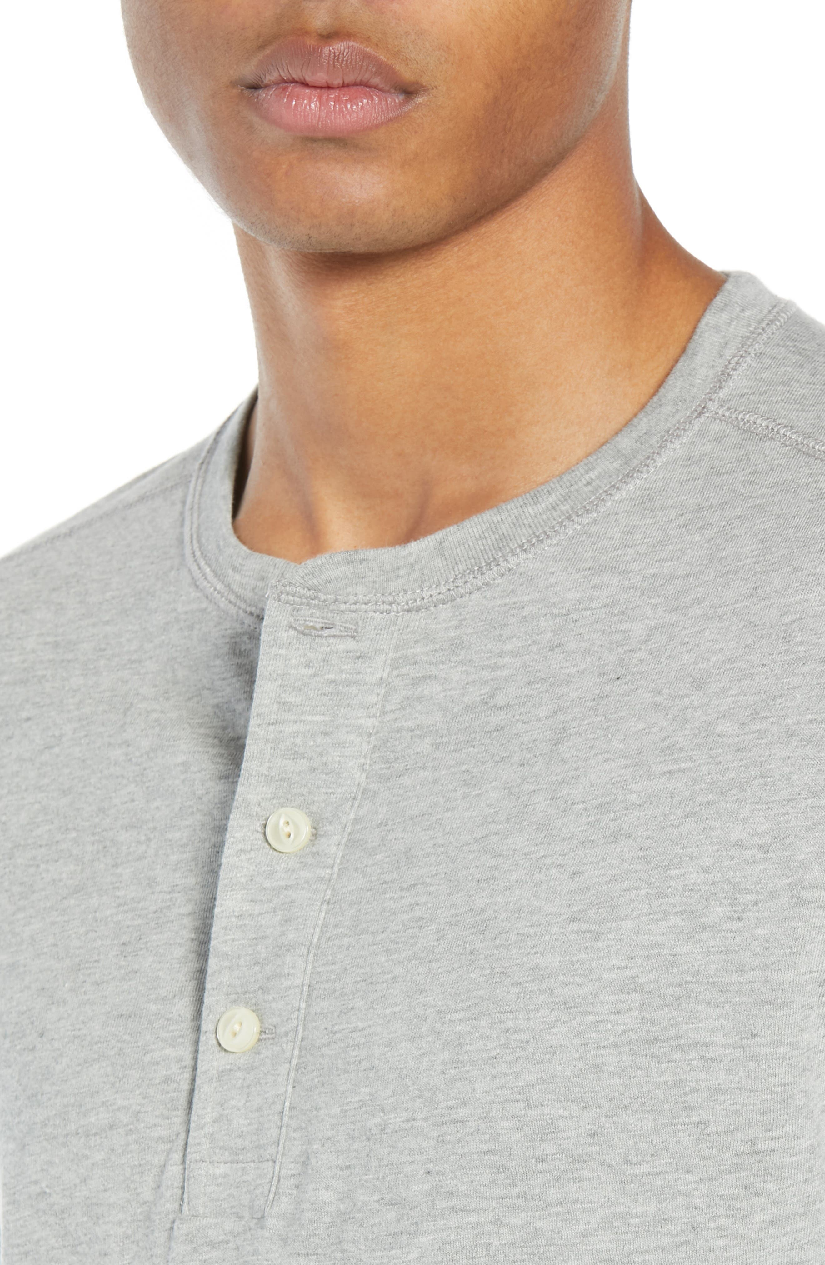 Slim Fit Garment Dyed Slub Cotton Henley,                             Alternate thumbnail 4, color,                             020