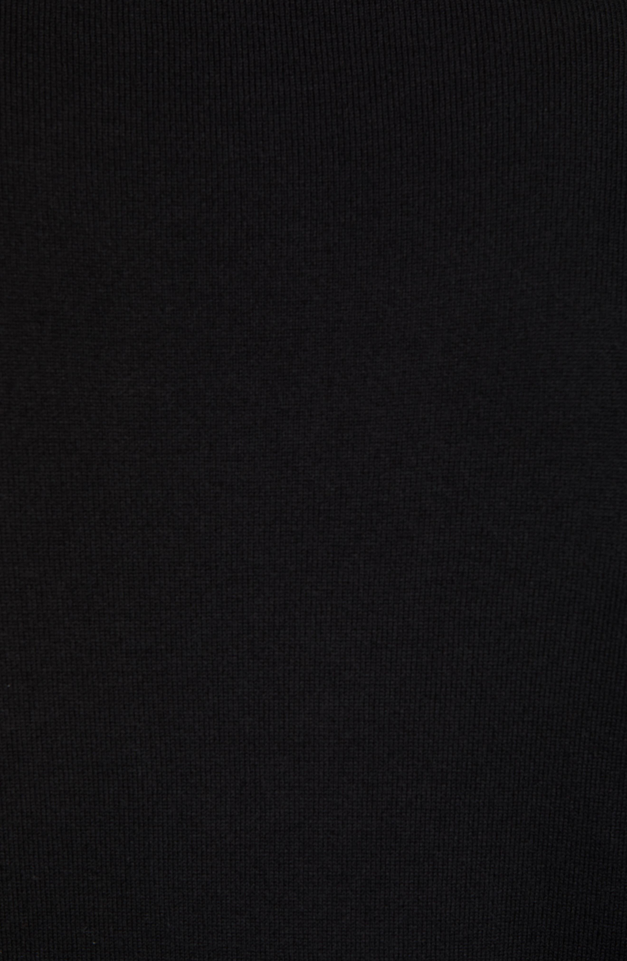 Washington - Lakemont Regular Fit Quarter Zip Sweater,                             Alternate thumbnail 5, color,                             BLACK