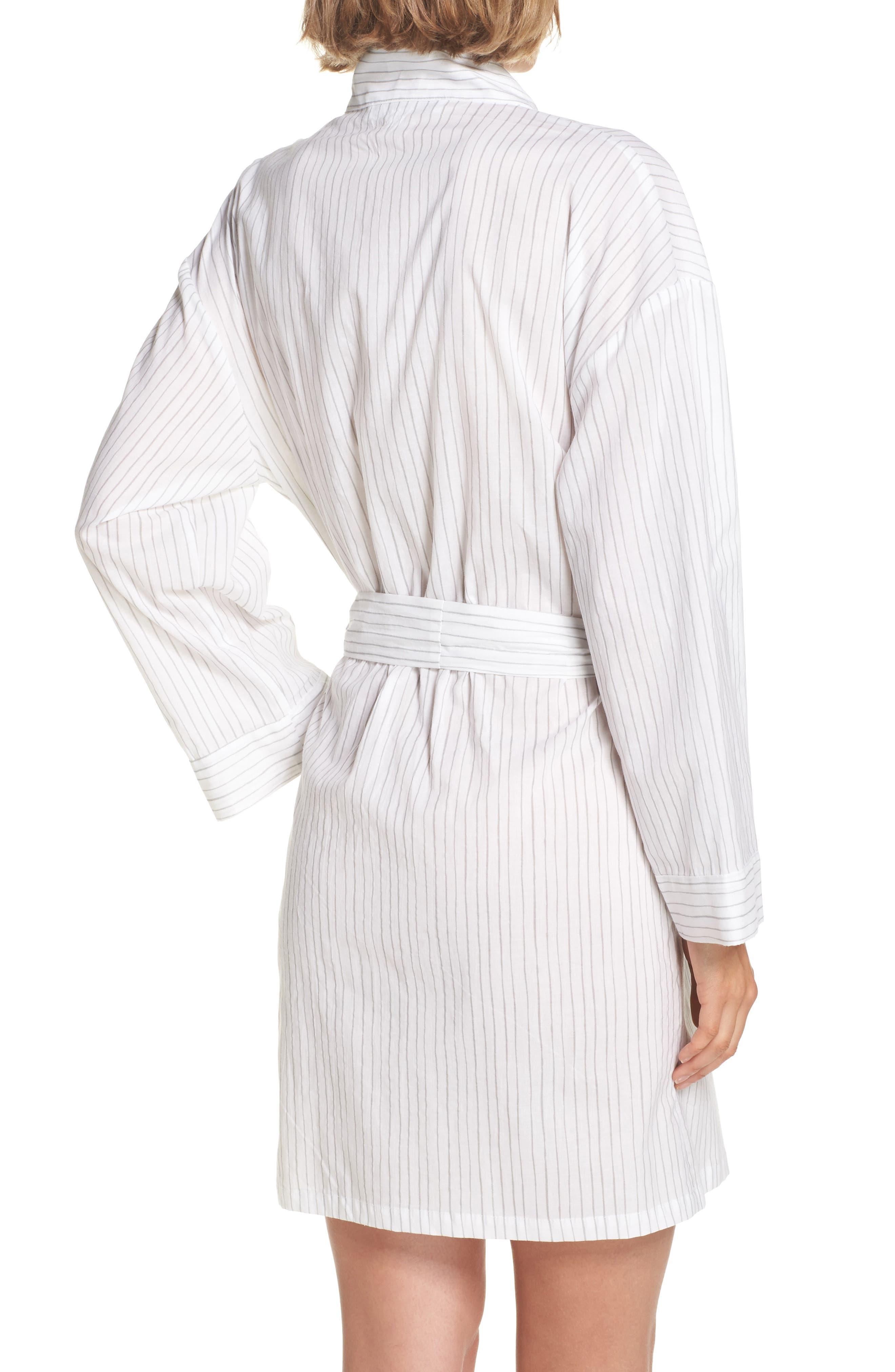 Pinstripe Robe,                             Alternate thumbnail 2, color,                             020