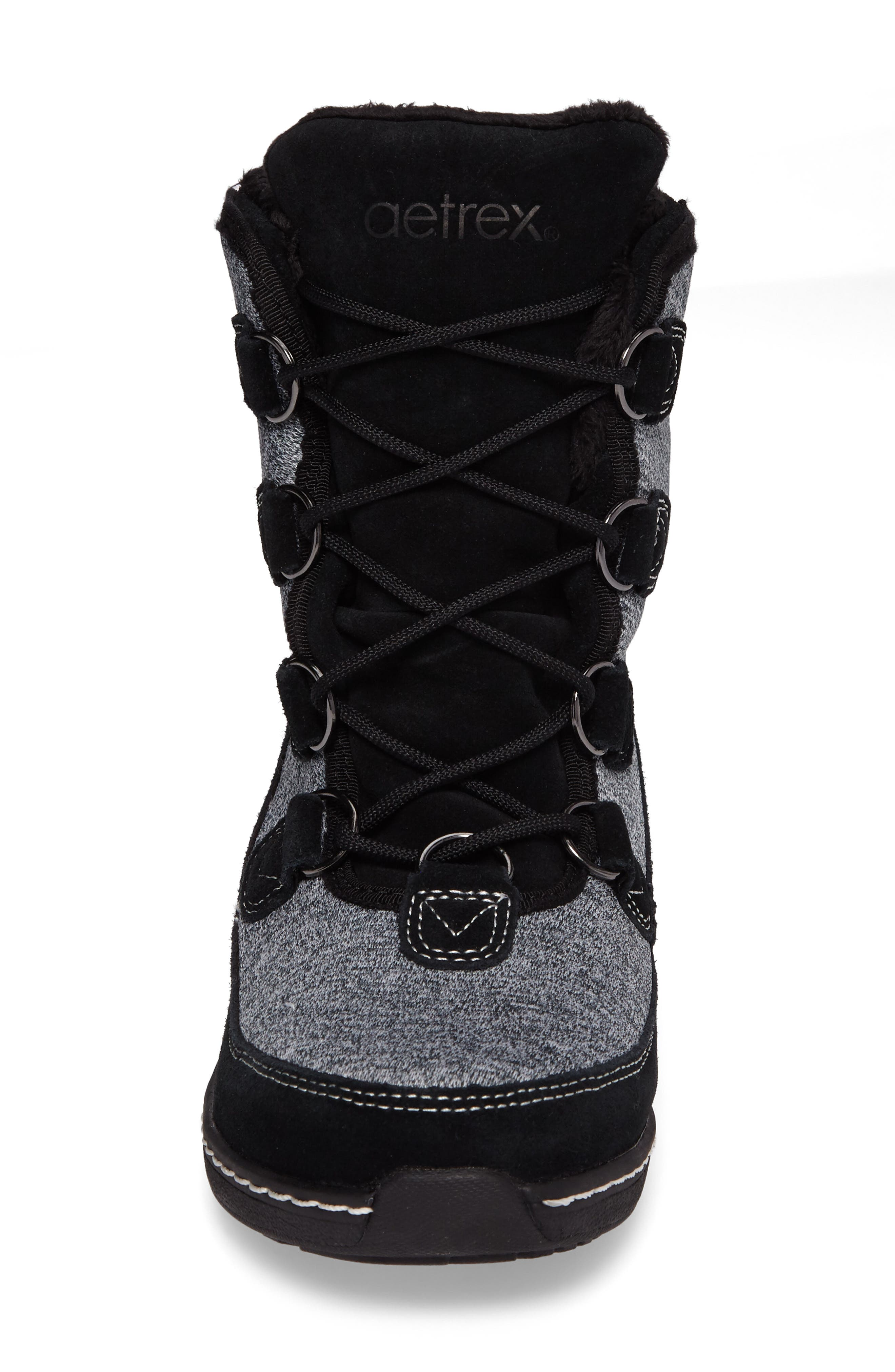 Berries Water Resistant Boot,                             Alternate thumbnail 4, color,                             MULTIBERRY SUEDE