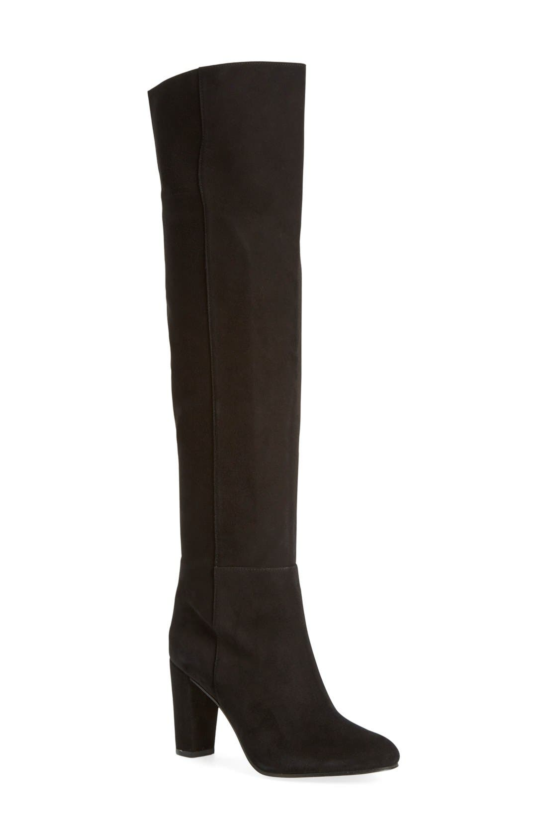 'Noble' Over the Knee Boot,                             Main thumbnail 1, color,                             001