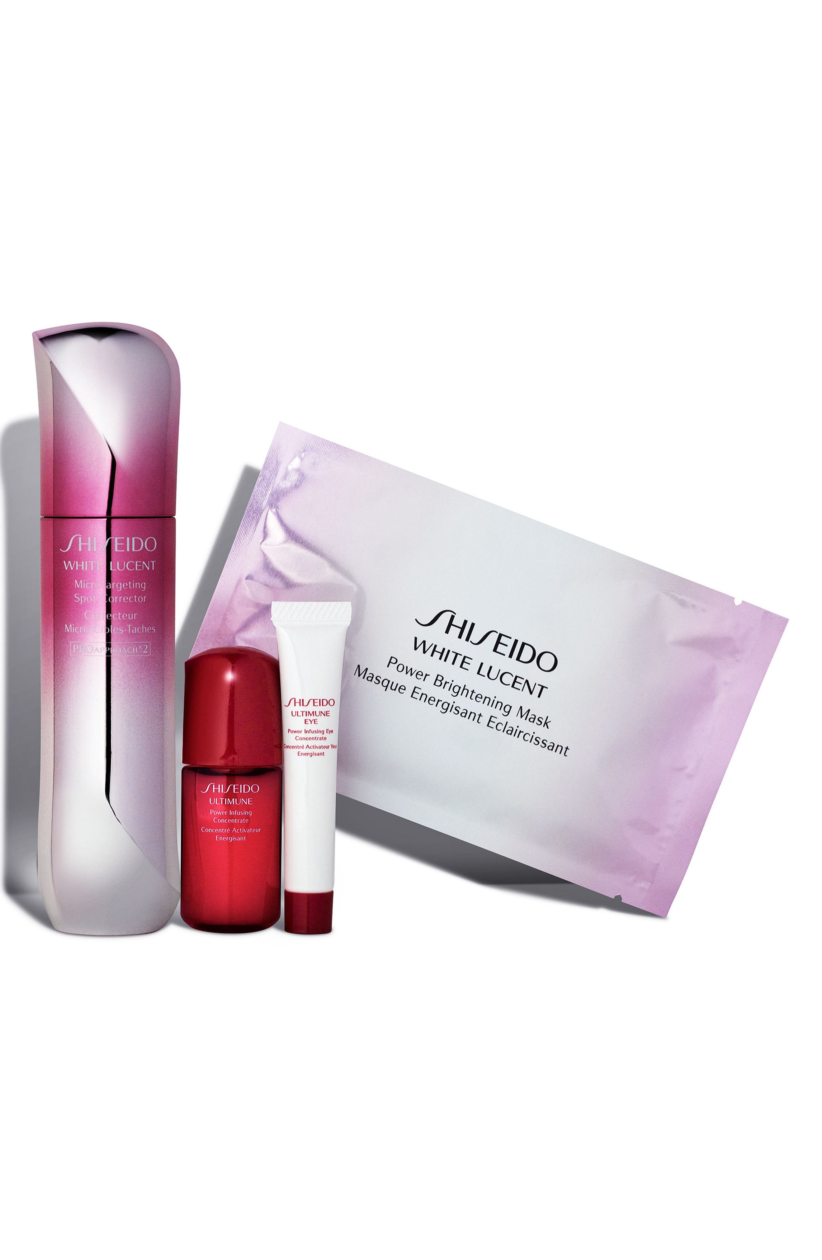 White Lucent Brightening Set,                             Alternate thumbnail 3, color,                             000