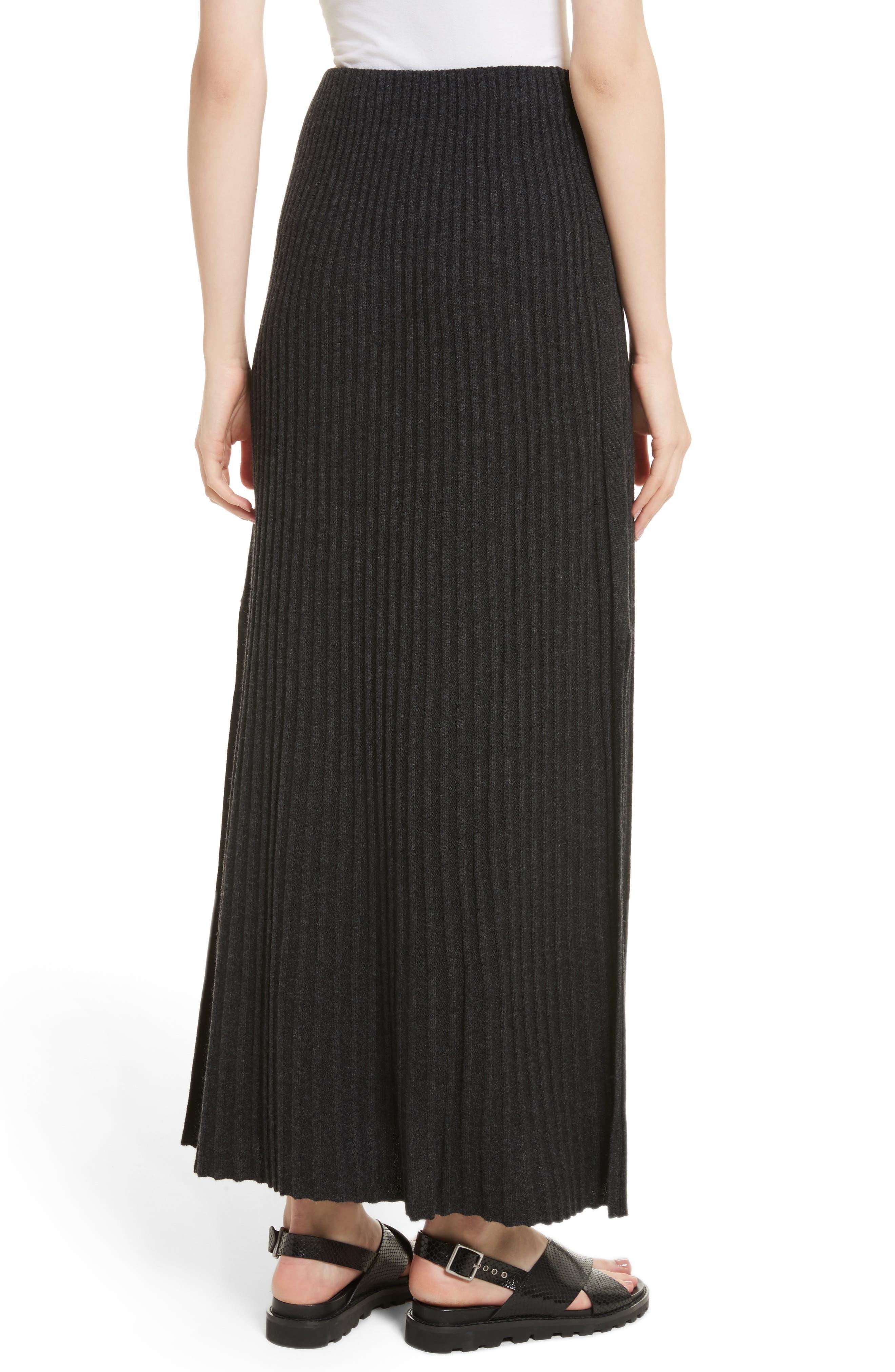 Joelle Rib Knit Maxi Skirt,                             Alternate thumbnail 2, color,                             020
