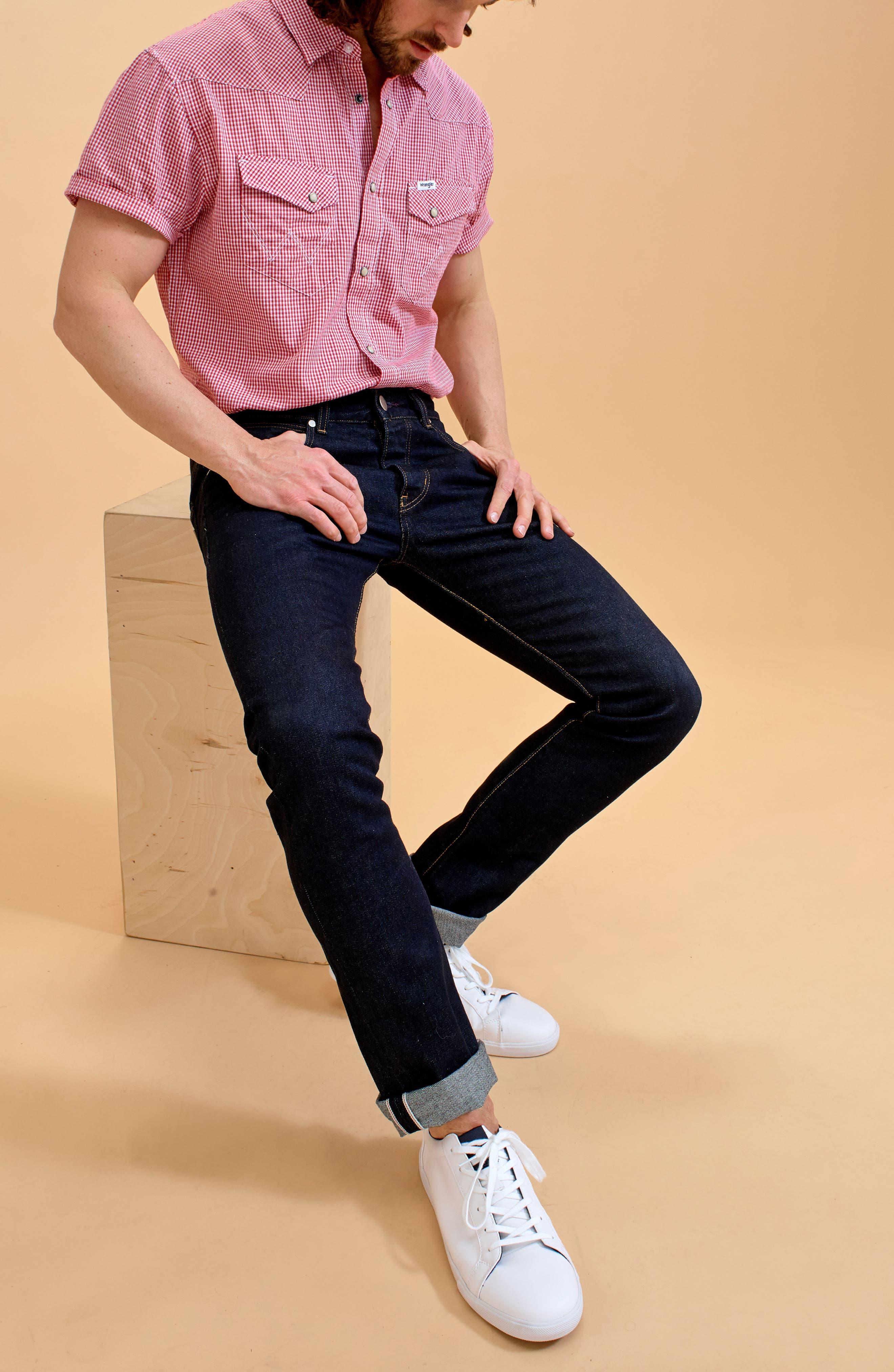 Spencer Selvedge Slim Straight Leg Jeans,                             Alternate thumbnail 8, color,                             468