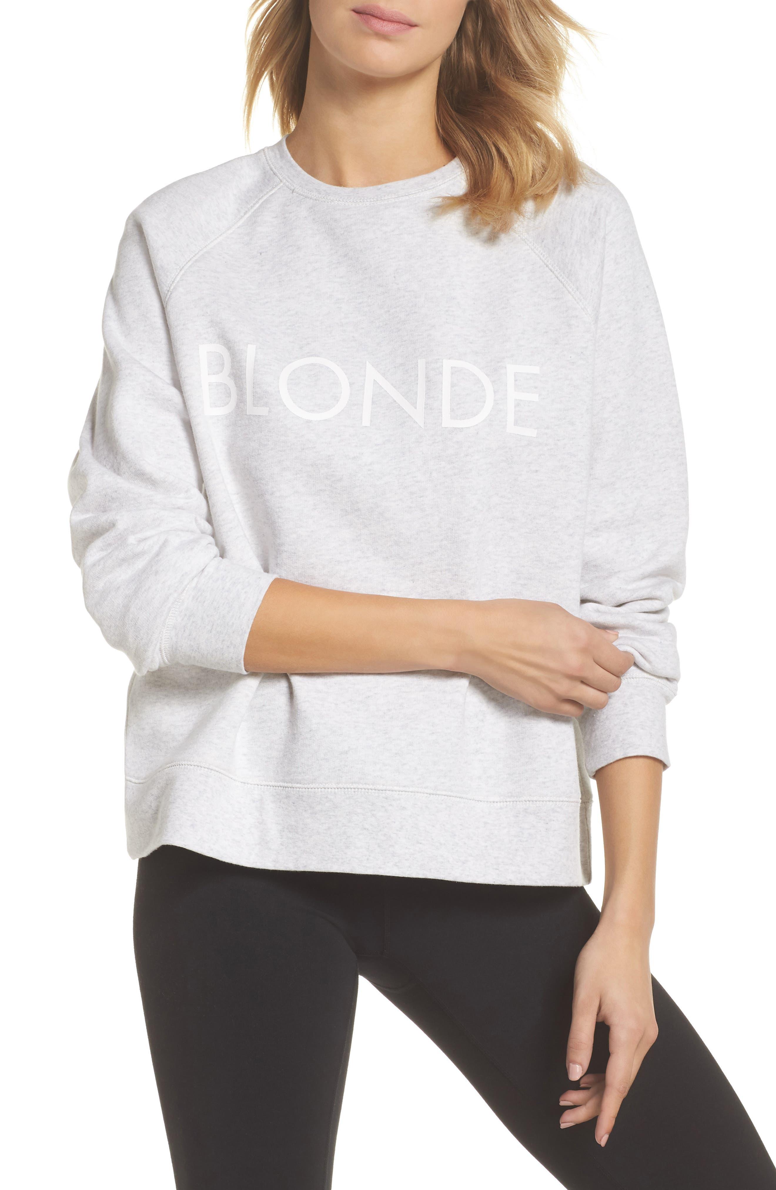 BRUNETTE THE LABEL,                             Blonde Sweatshirt,                             Main thumbnail 1, color,                             250