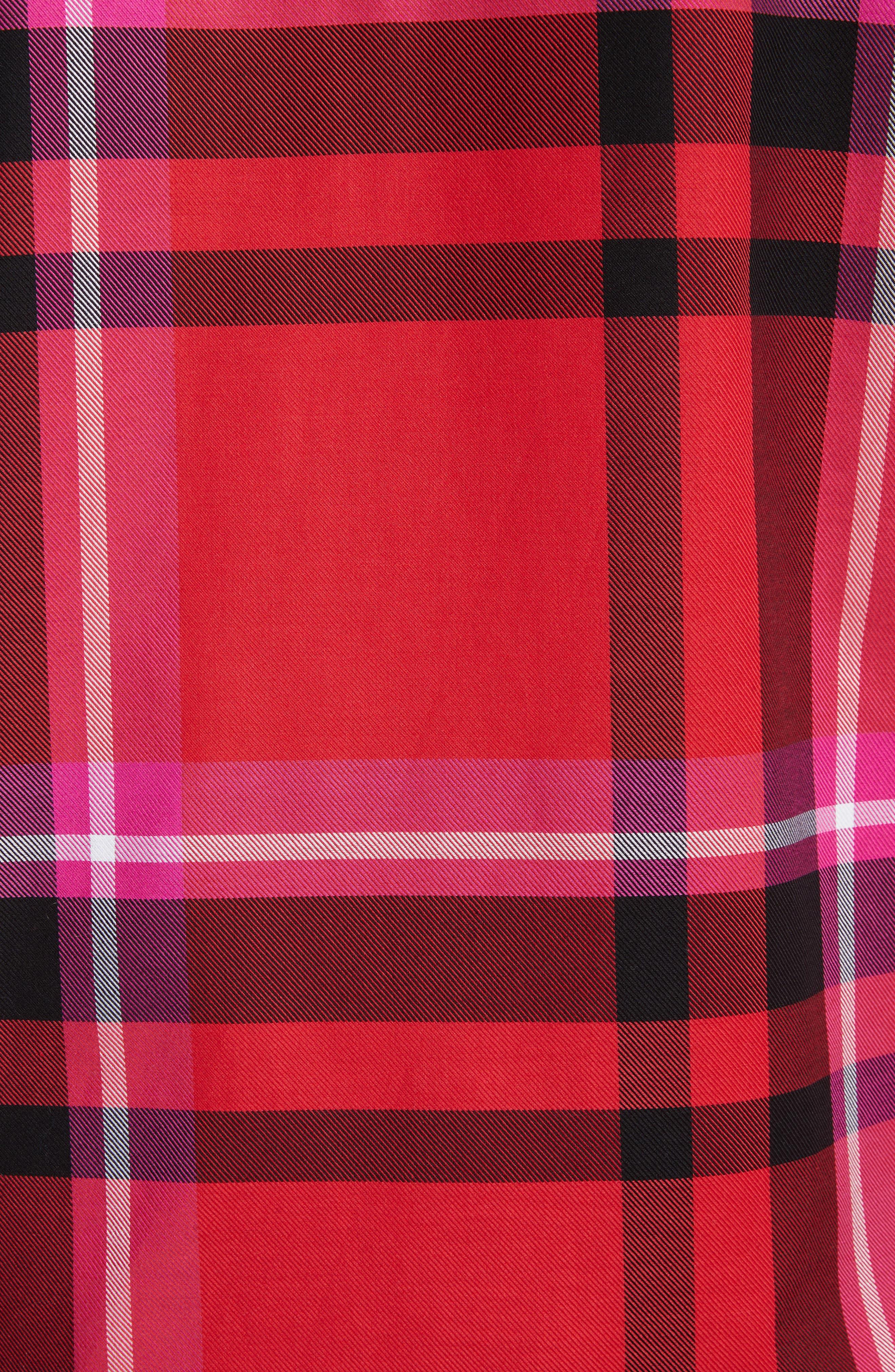 VERSUS by Versace Plaid Woven Shirt,                             Alternate thumbnail 5, color,                             647