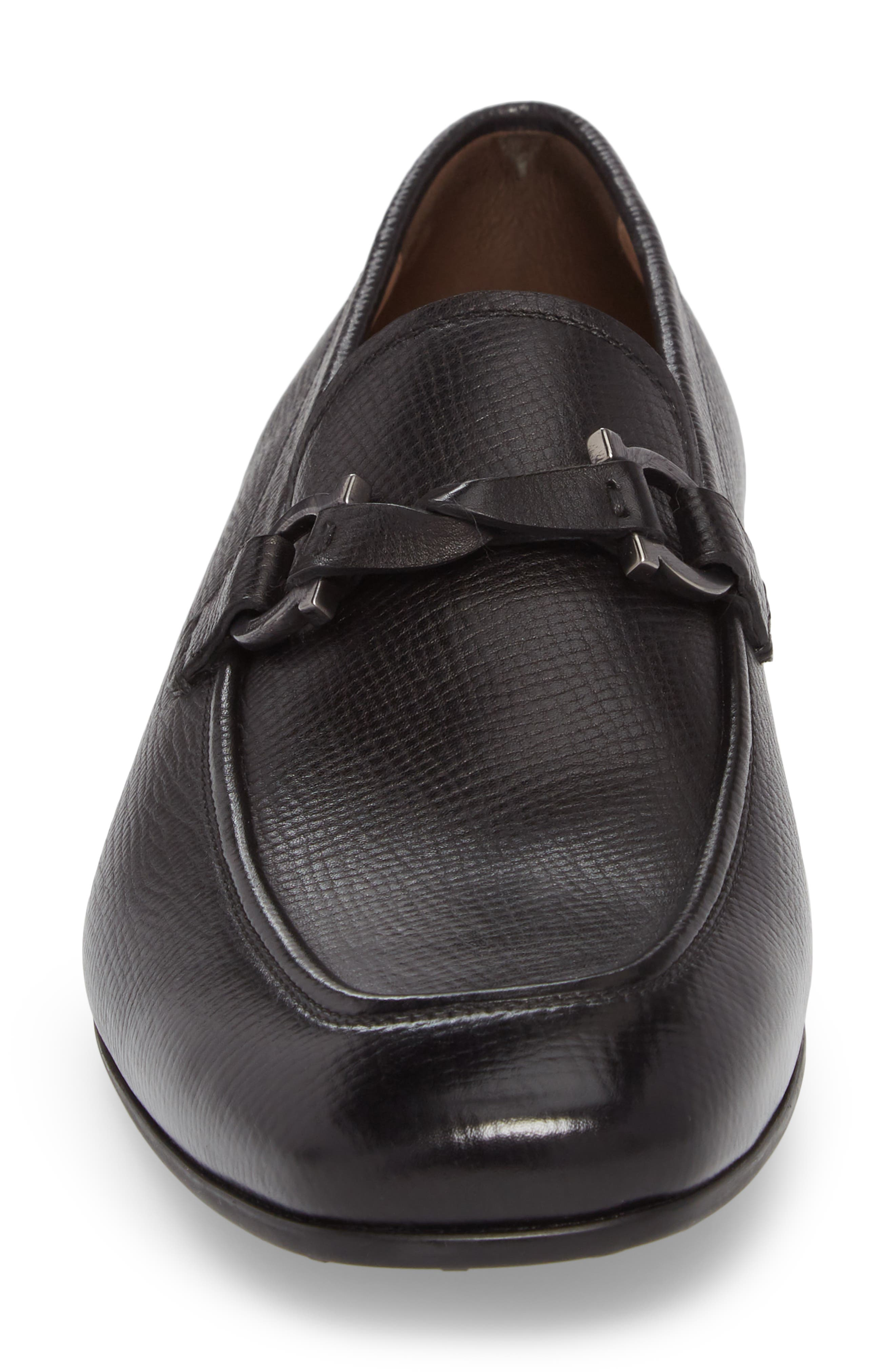 Barry Looped Bit Loafer,                             Alternate thumbnail 4, color,                             NERO LEATHER