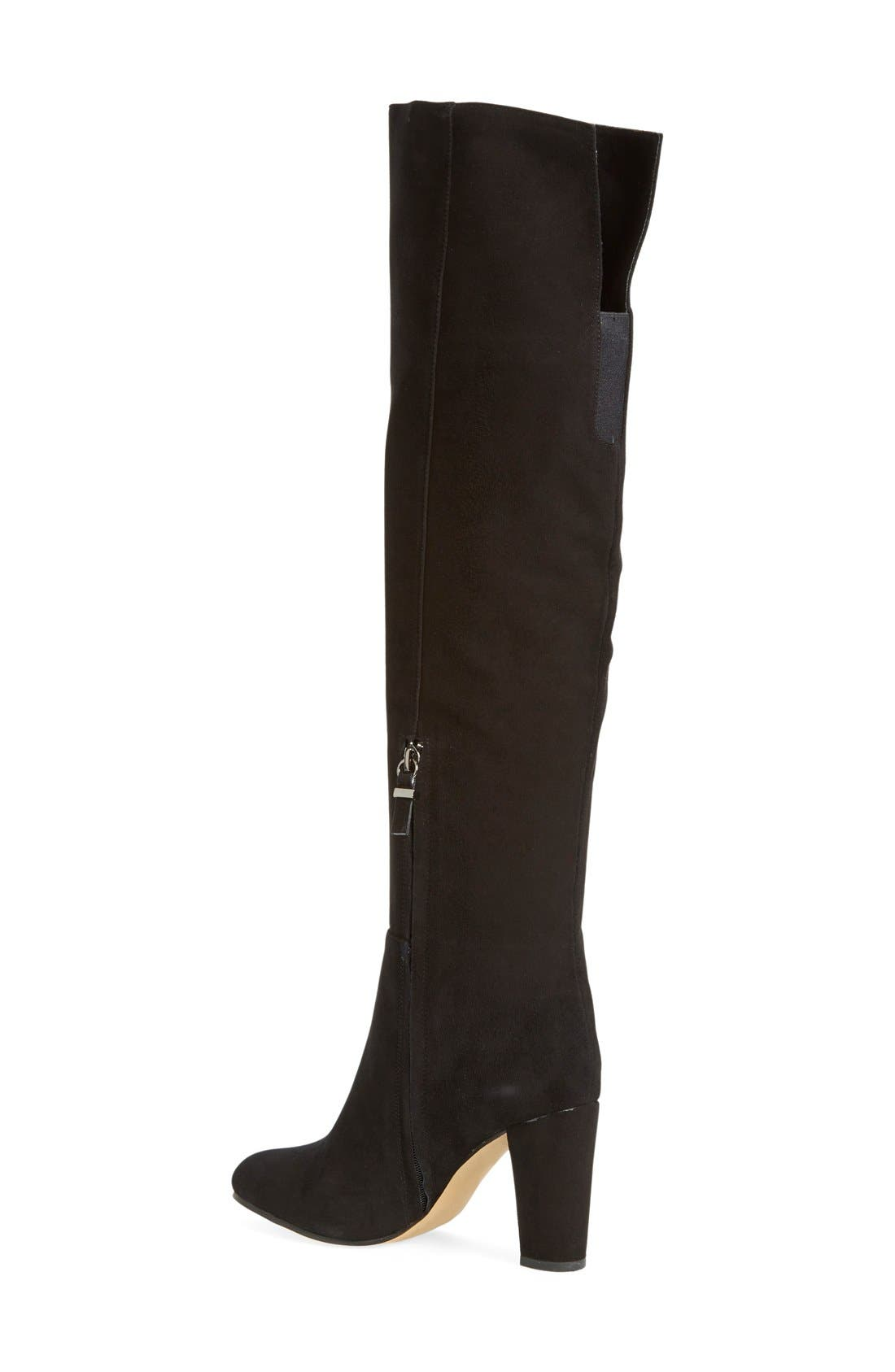 'Noble' Over the Knee Boot,                             Alternate thumbnail 2, color,                             001