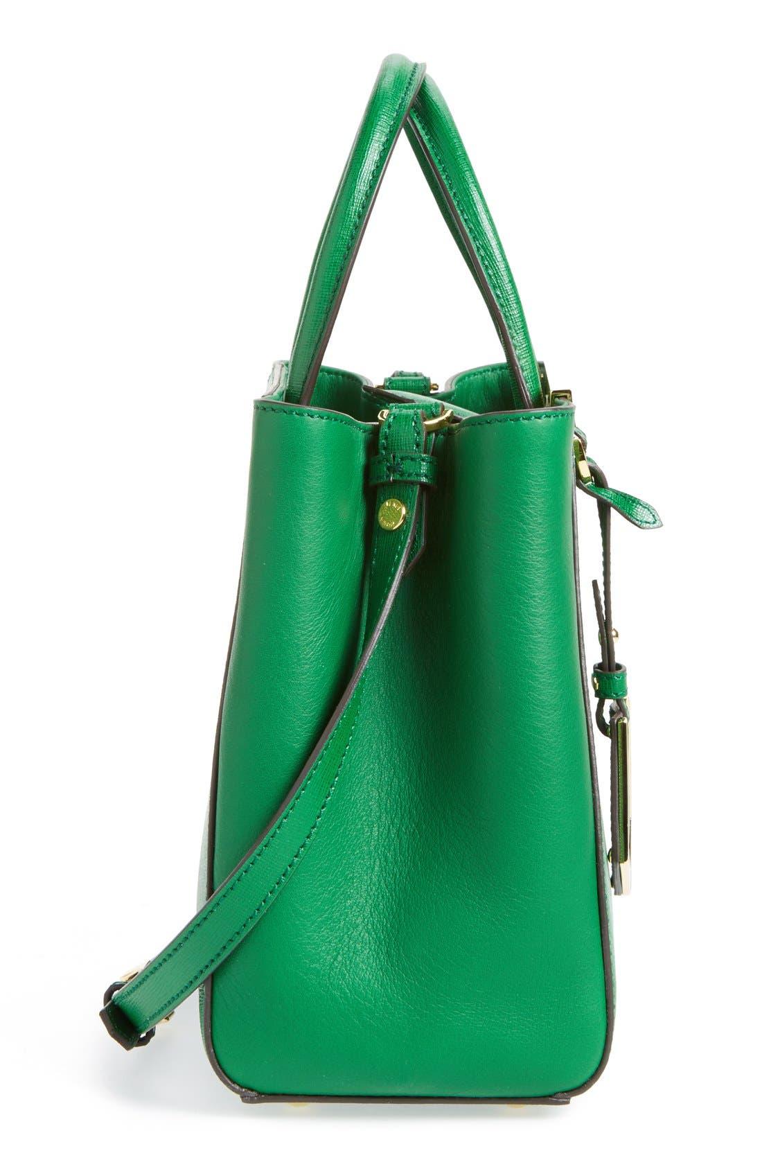 'Petite 2Jours Elite' Leather Shopper,                             Alternate thumbnail 33, color,