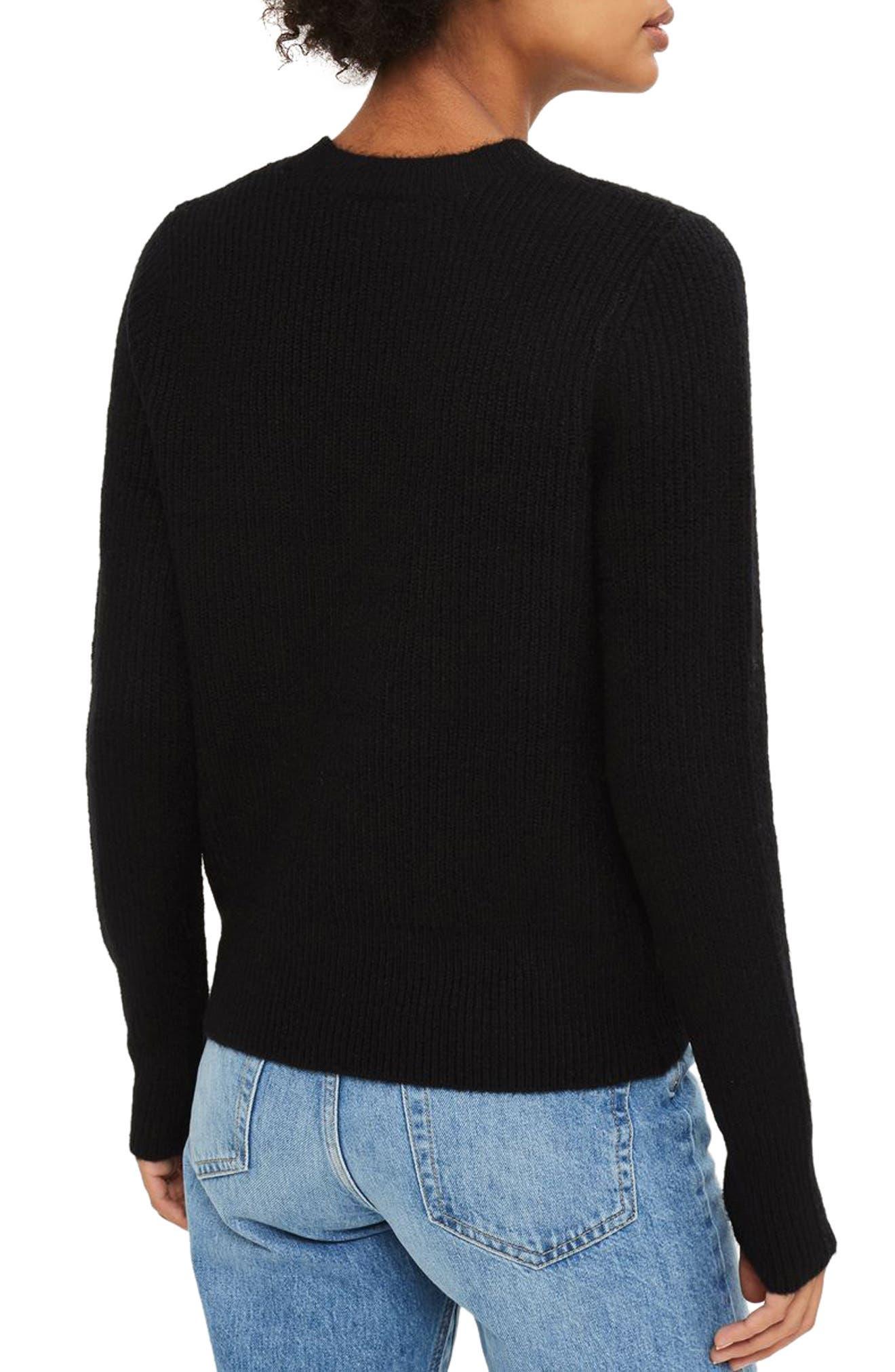 Ribbed Crewneck Sweater,                             Alternate thumbnail 4, color,