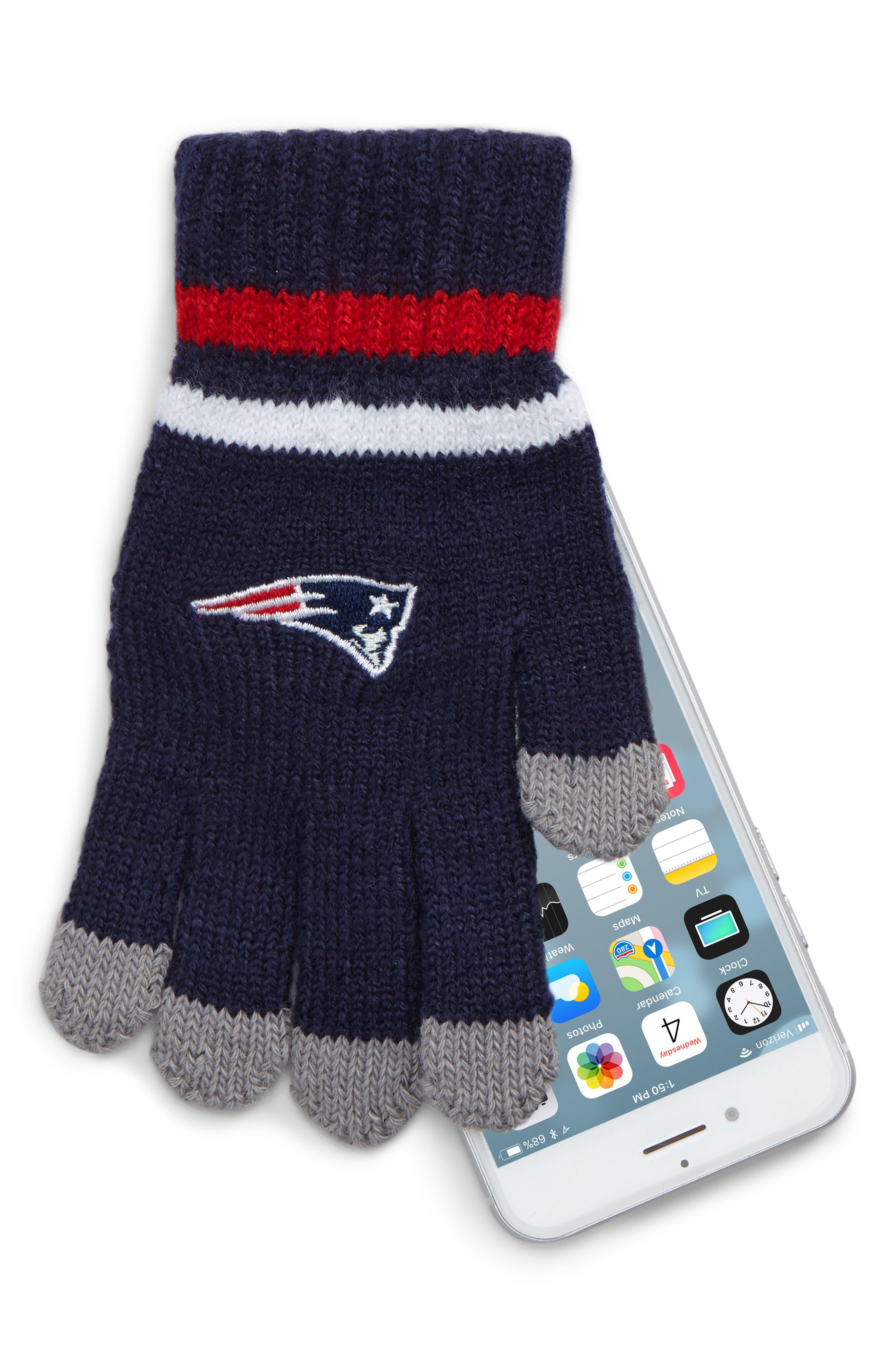 NFL Logo Pom Beanie & Tech Gloves Set,                             Alternate thumbnail 8, color,