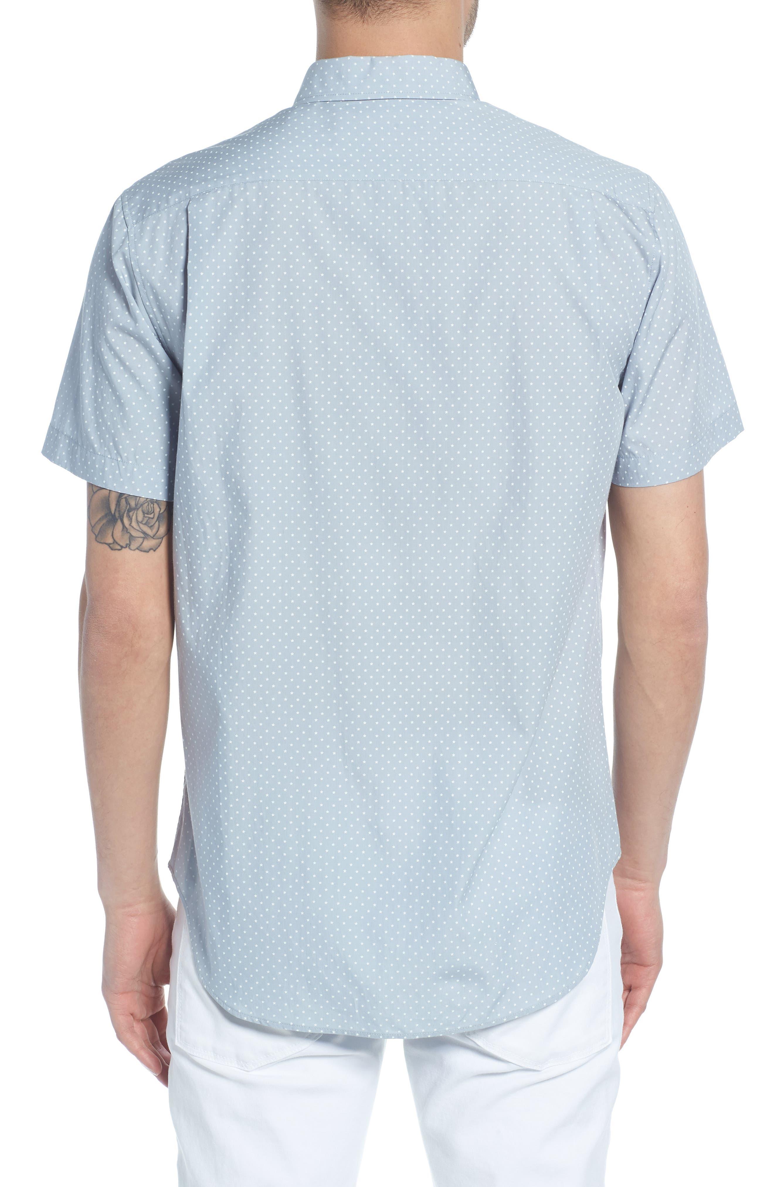 Classic Fit Micro Star Short Sleeve Sport Shirt,                             Alternate thumbnail 2, color,                             ARCTIC