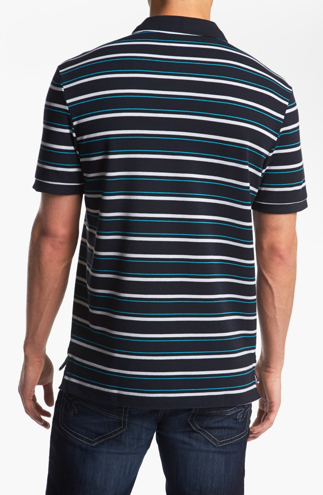 Stripe Piqué Polo,                             Alternate thumbnail 2, color,                             409