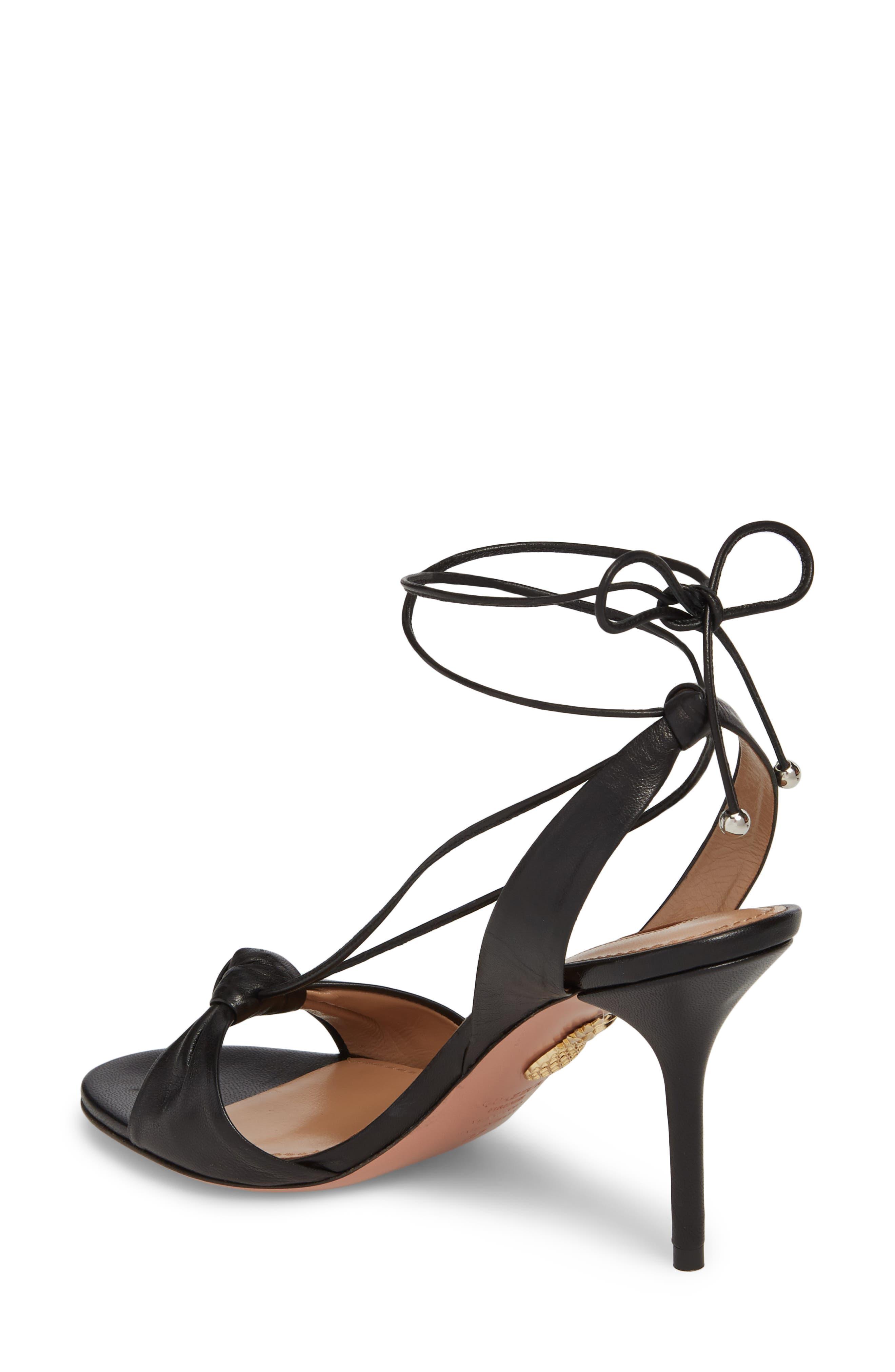 Virginie Lace-Up Sandal,                             Alternate thumbnail 2, color,                             BLACK