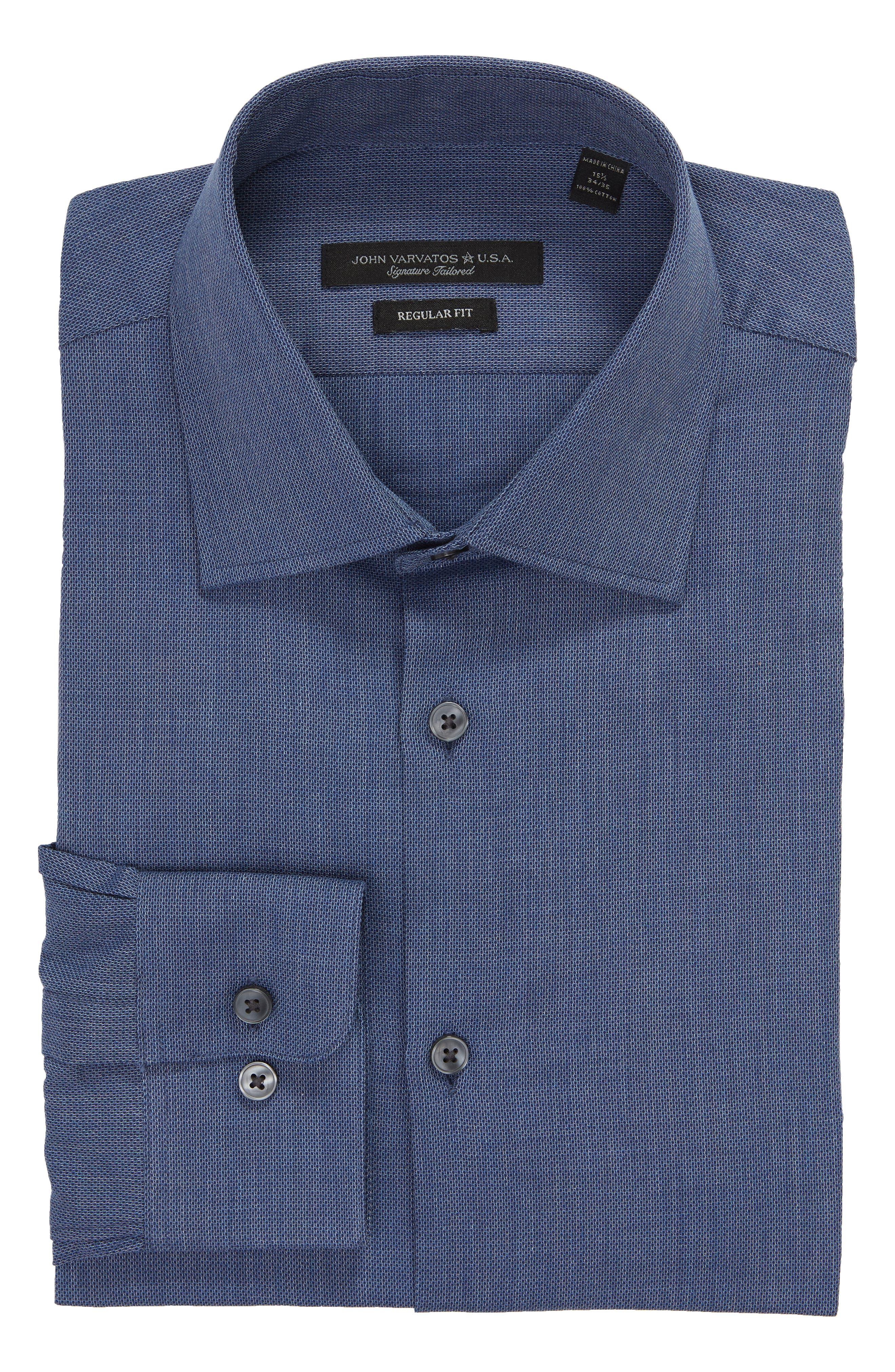 JOHN VARVATOS STAR USA,                             Regular Fit Solid Dress Shirt,                             Alternate thumbnail 5, color,                             415