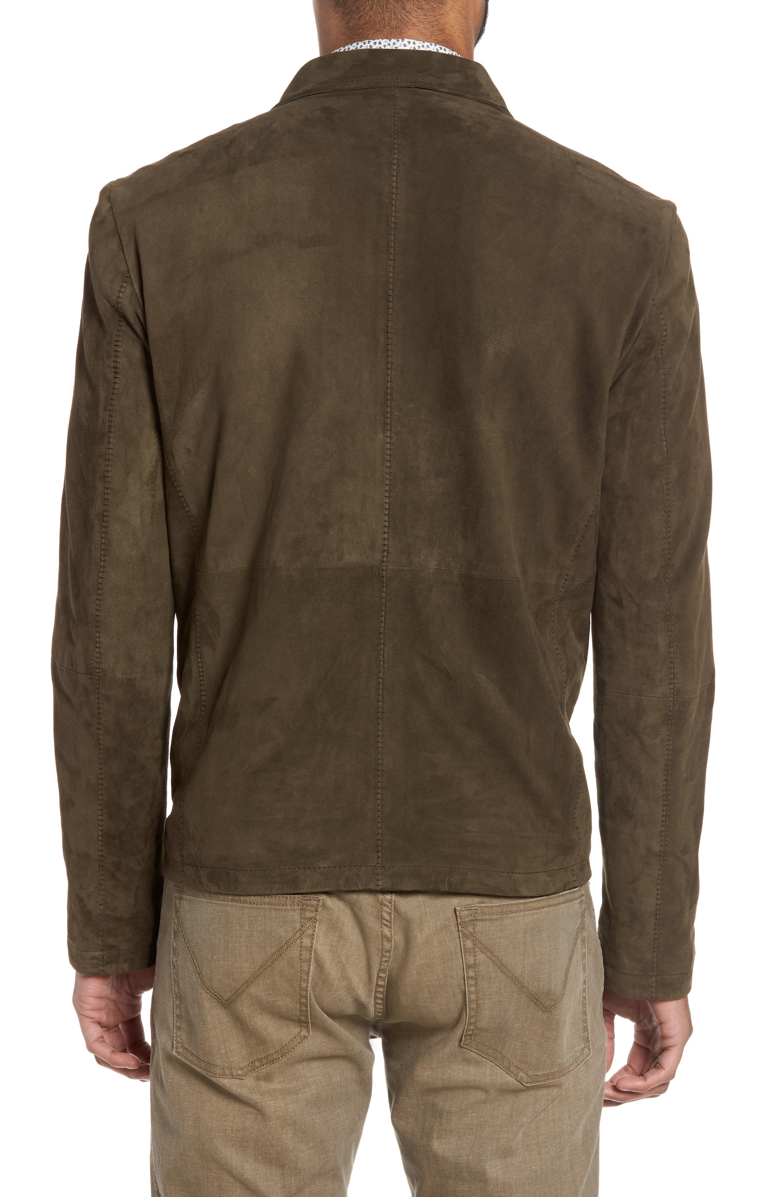 Zip Front Leather Jacket,                             Alternate thumbnail 2, color,                             307