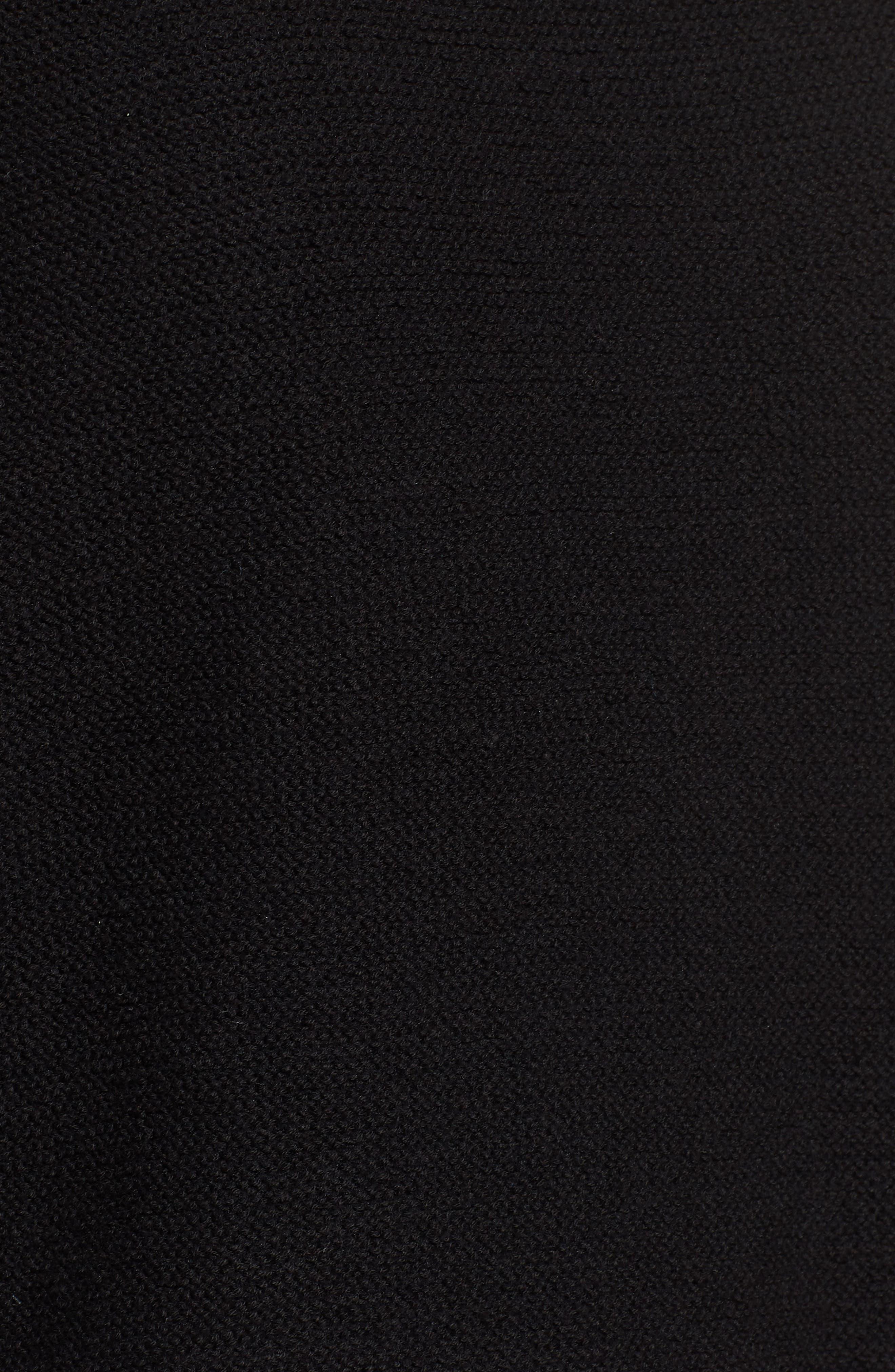 Marked Cold Shoulder Sweater,                             Alternate thumbnail 5, color,                             BLACK
