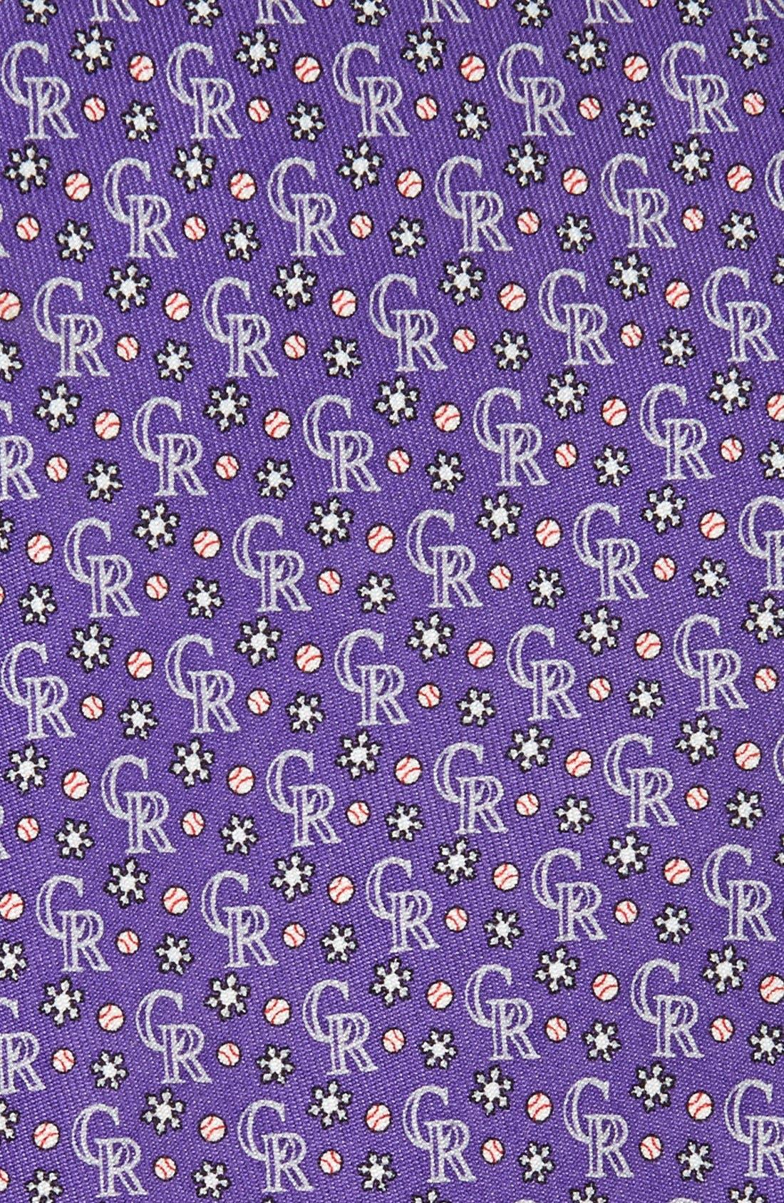 'Colorado Rockies' Woven Silk Tie,                             Alternate thumbnail 2, color,