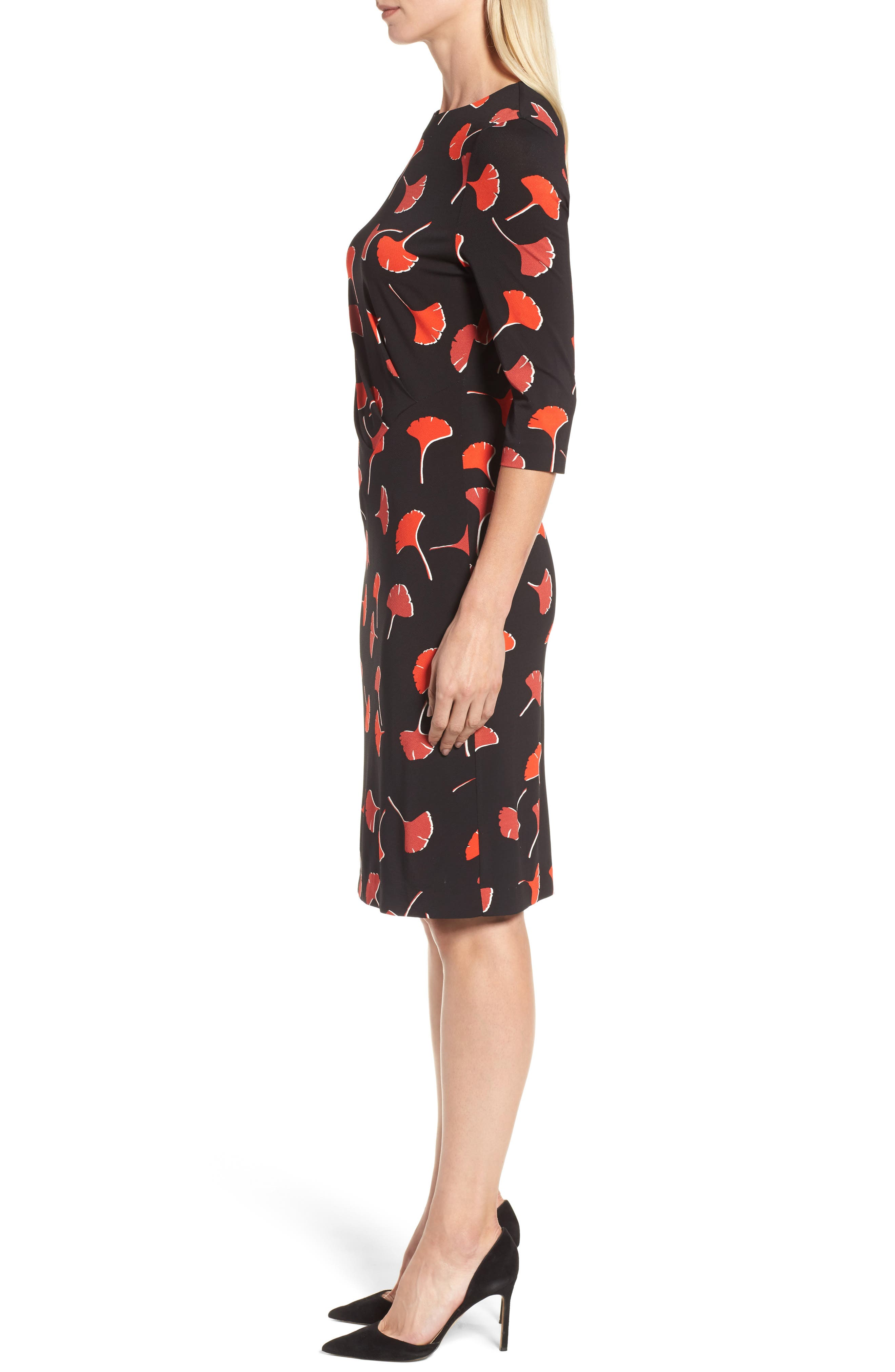 Eseona Print Sheath Dress,                             Alternate thumbnail 3, color,                             005