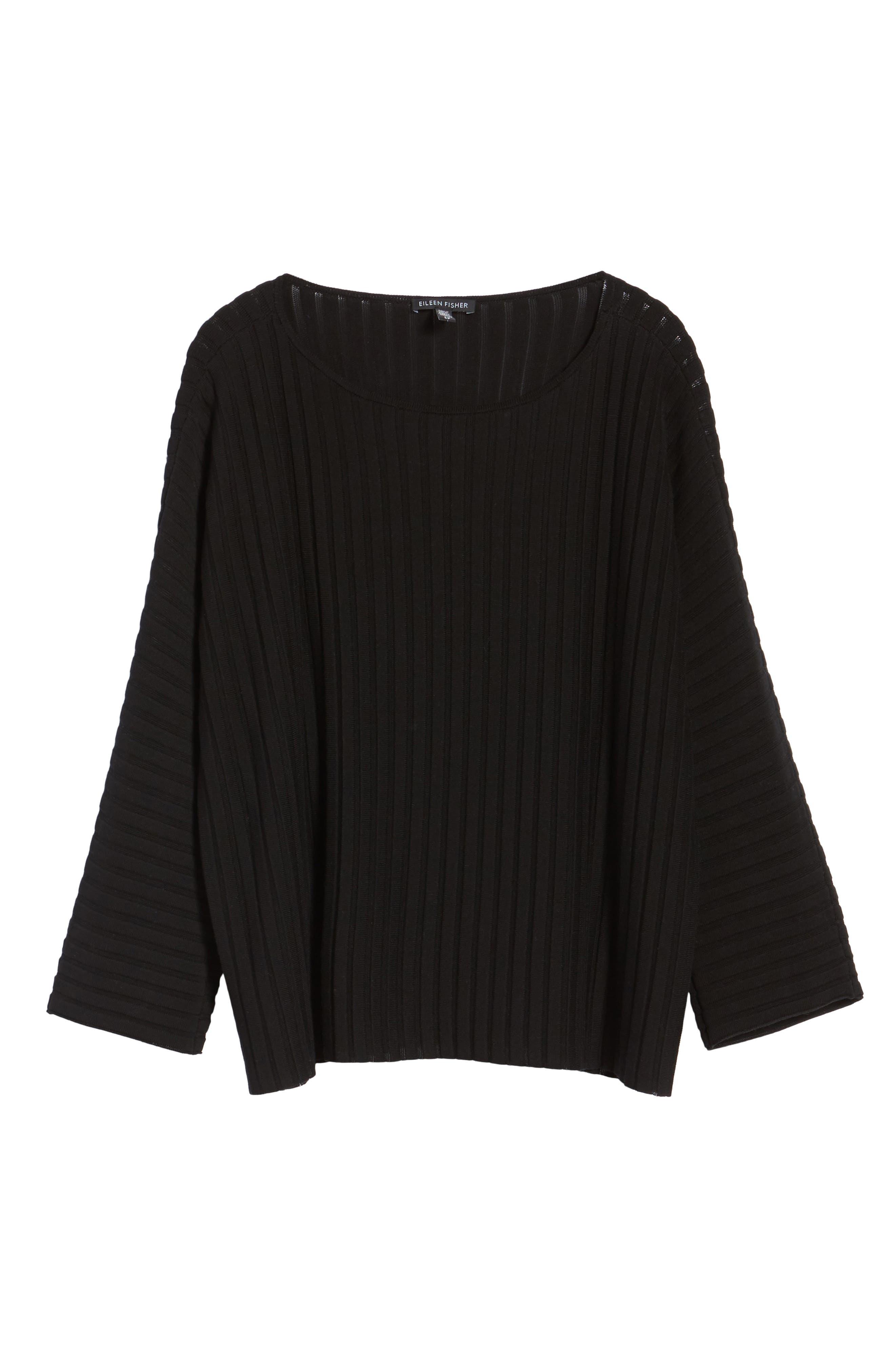 Ribbed Bateau Neck Sweater,                             Alternate thumbnail 21, color,