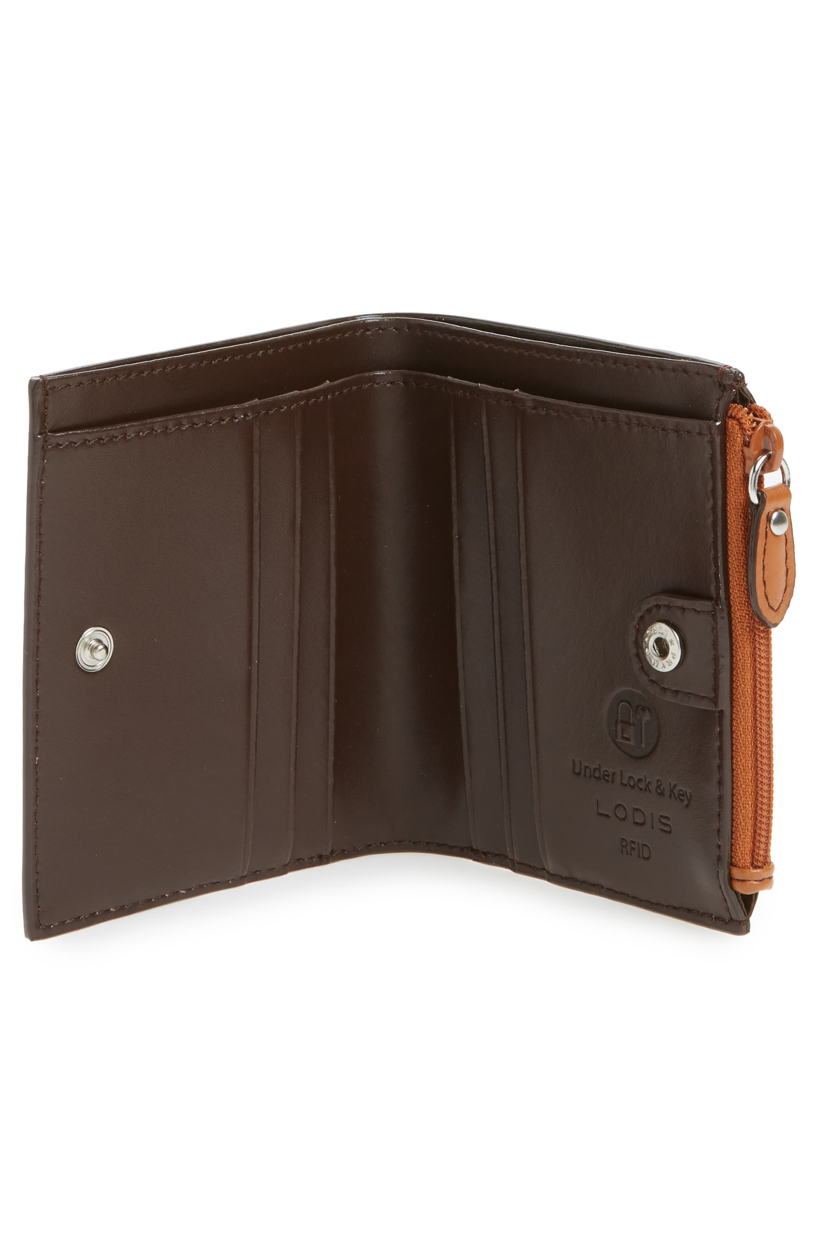 Audrey Under Lock & Key Aldis Leather Wallet,                             Alternate thumbnail 5, color,