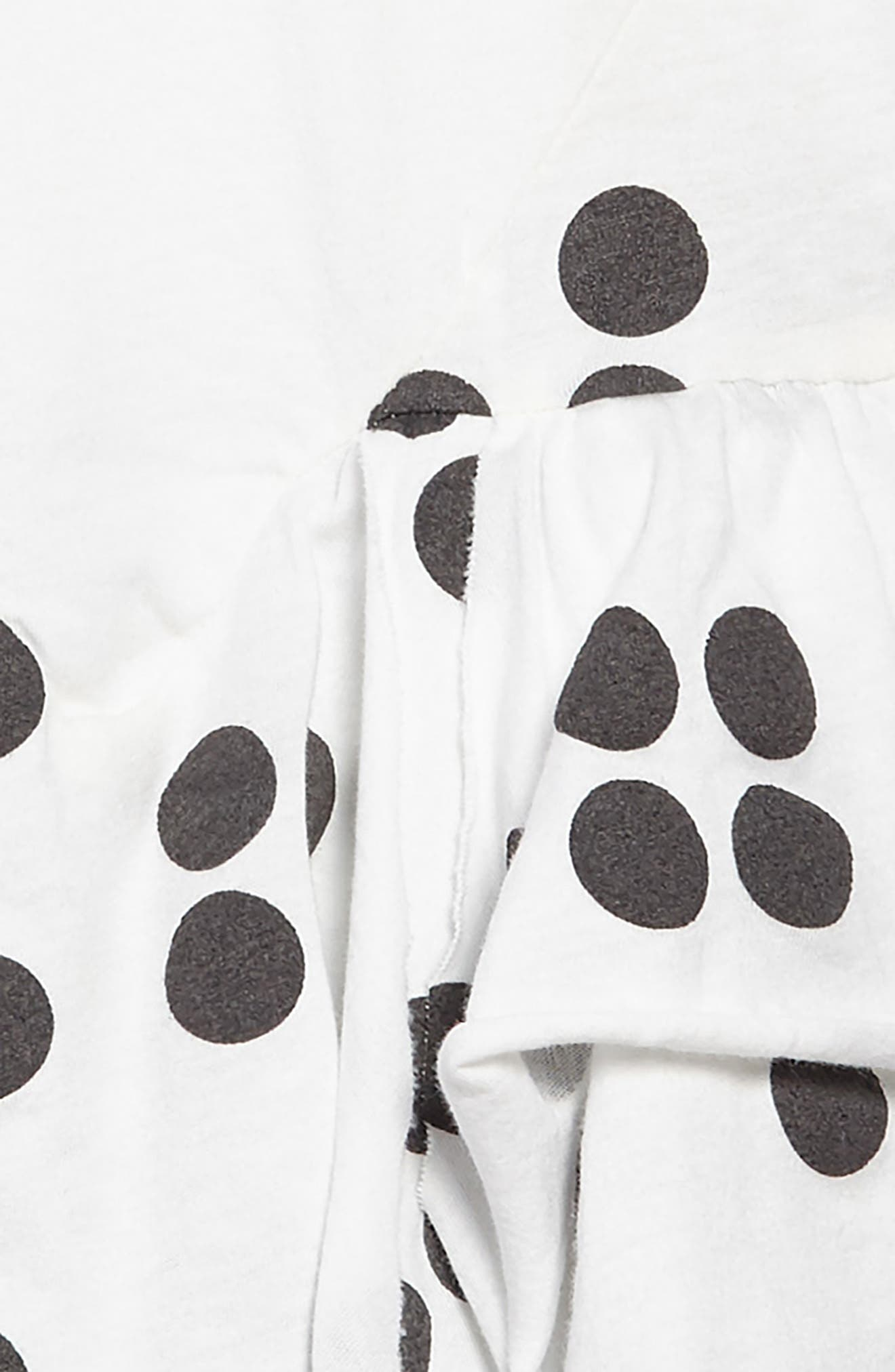 Braille Dot Layered Tank Dress,                             Alternate thumbnail 3, color,                             WHITE