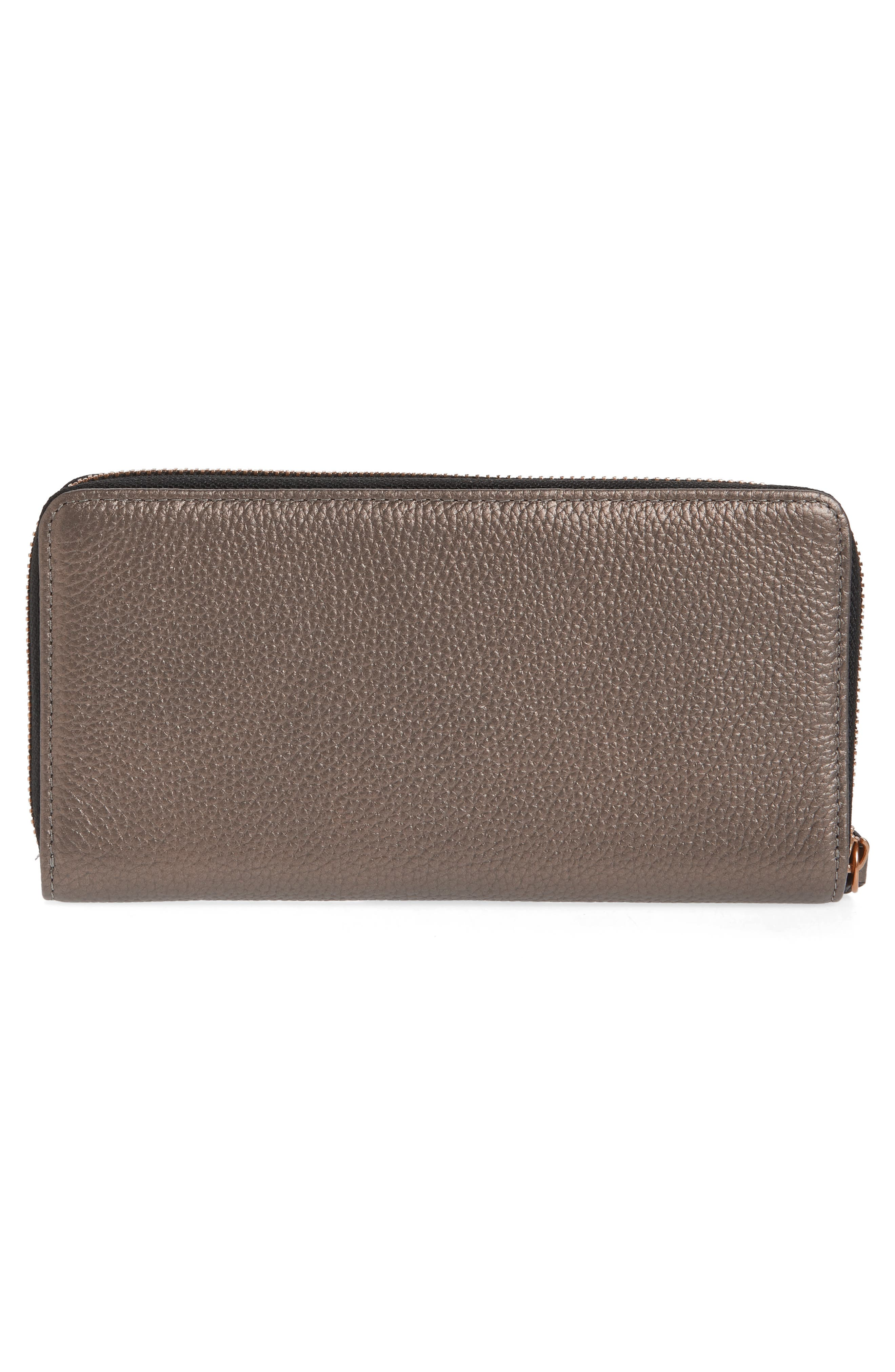 Zip Around Leather Wallet,                             Alternate thumbnail 10, color,