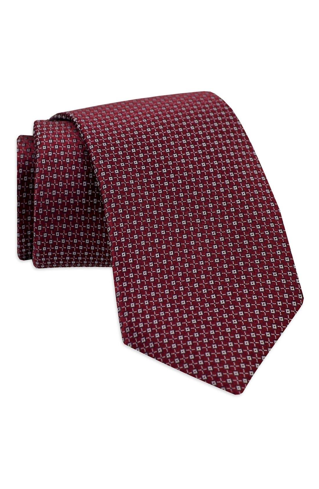 Geometric Woven Silk Tie,                             Alternate thumbnail 6, color,
