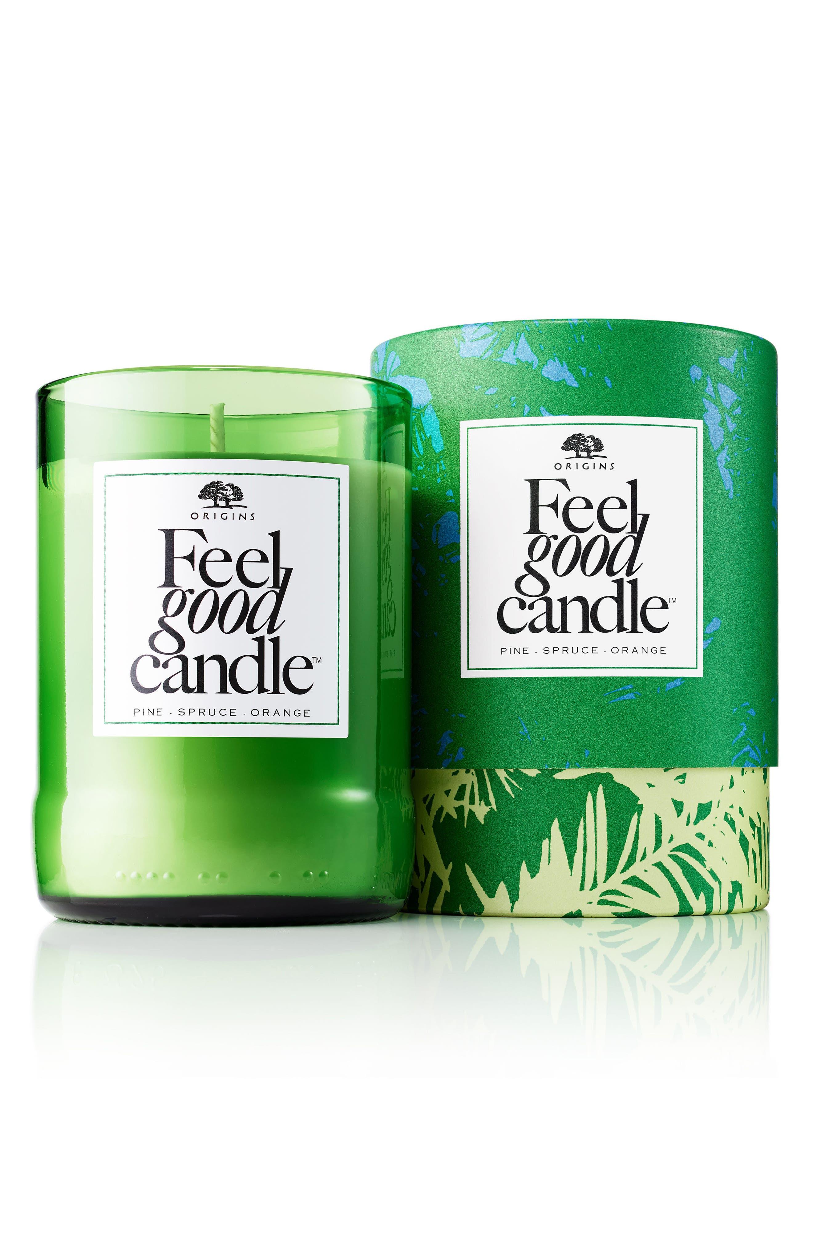 Pine, Spruce & Orange Feel Good Candle,                             Main thumbnail 1, color,                             000