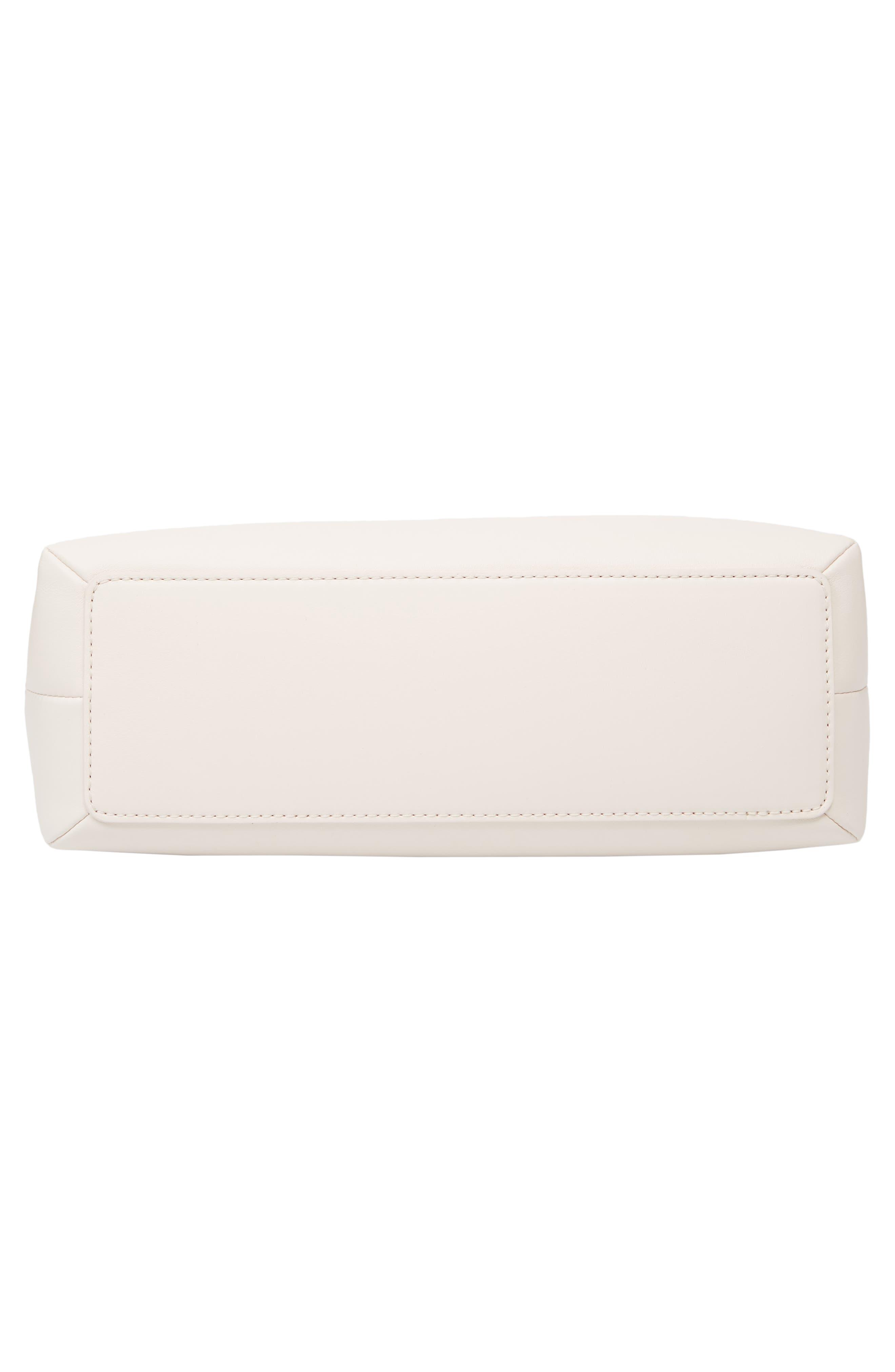 emerson place lorie quilted leather shoulder bag,                             Alternate thumbnail 6, color,                             BLEACH BONE