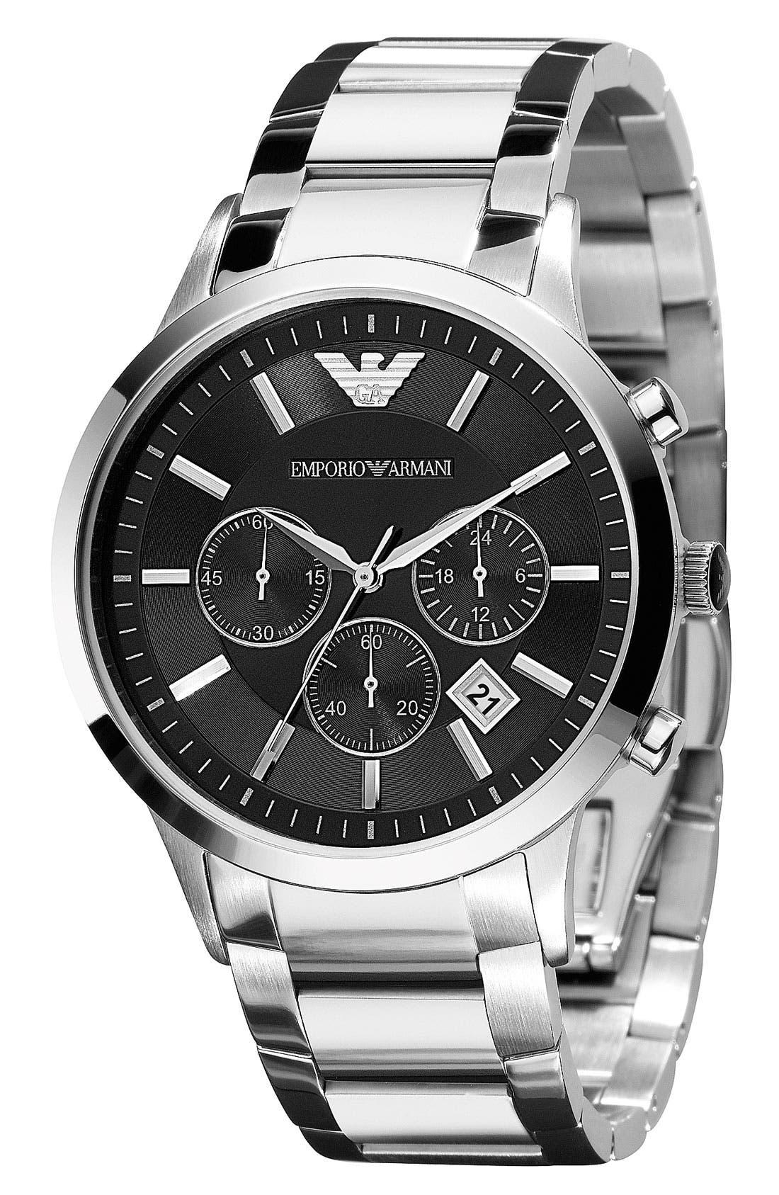 Stainless Steel Bracelet Watch, 43mm,                             Alternate thumbnail 7, color,