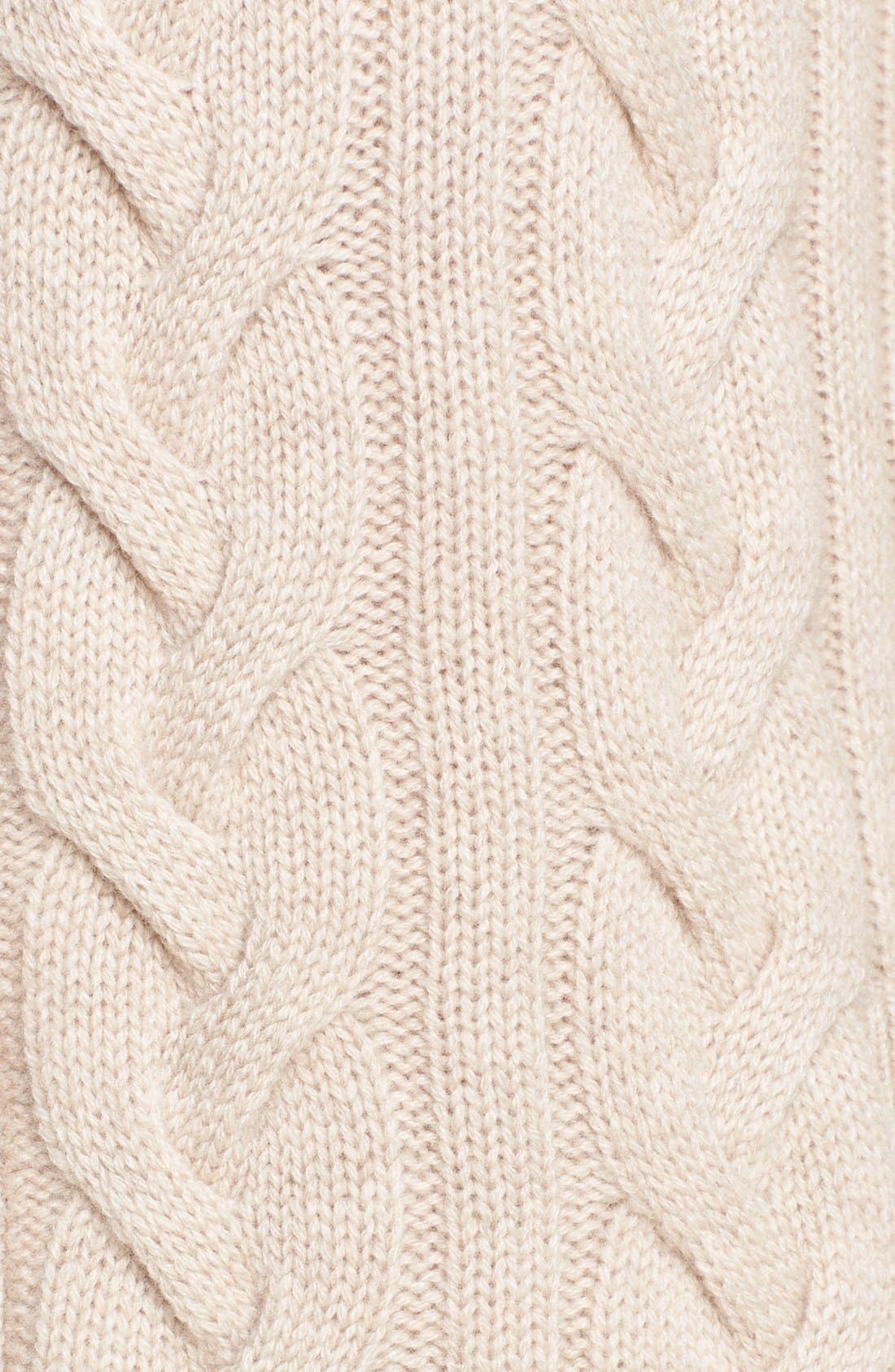 Chunky Cable Cashmere Cardigan,                             Alternate thumbnail 4, color,