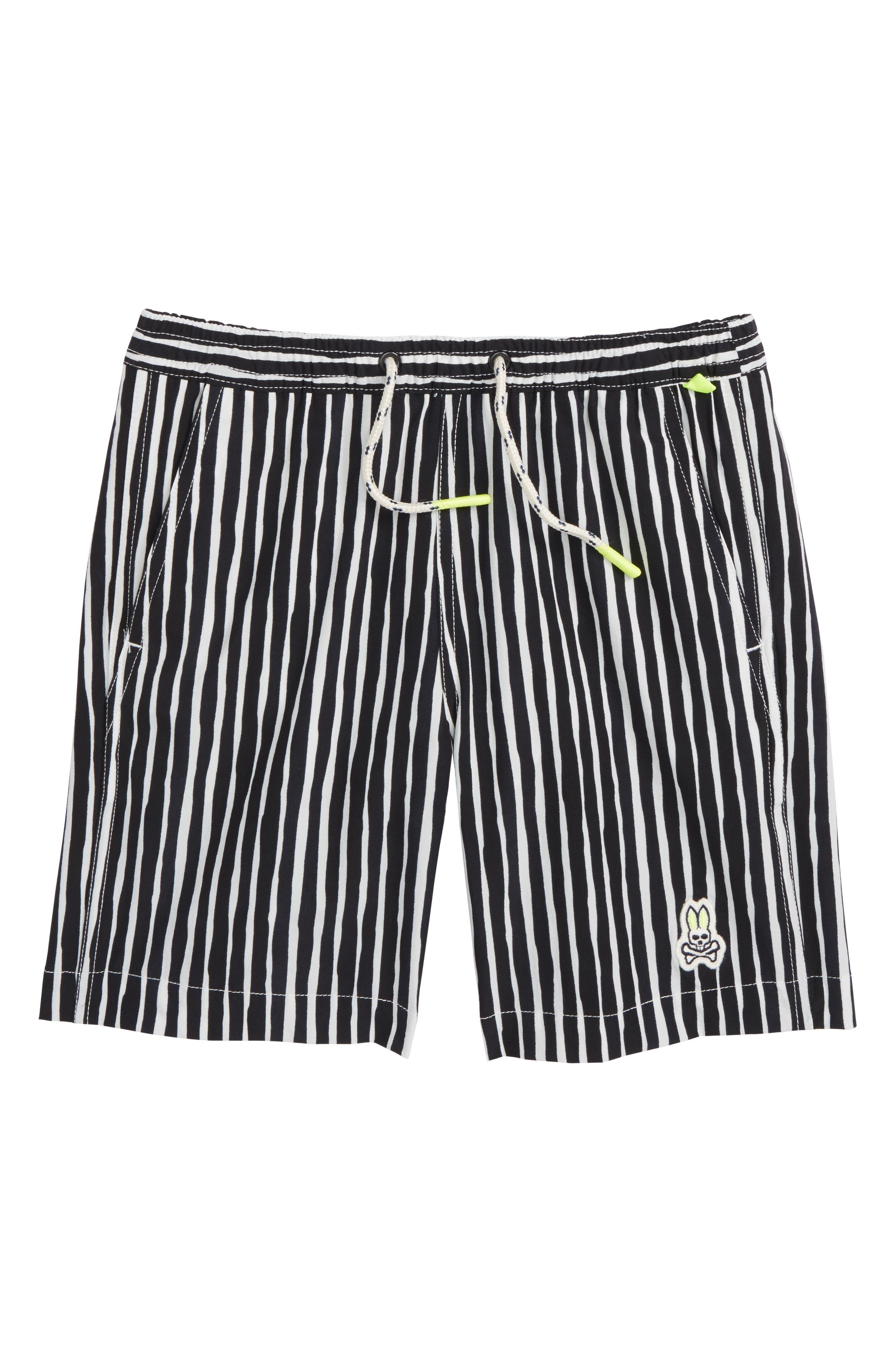 Watermark Vertical Stripe Swim Trunks,                         Main,                         color, 400