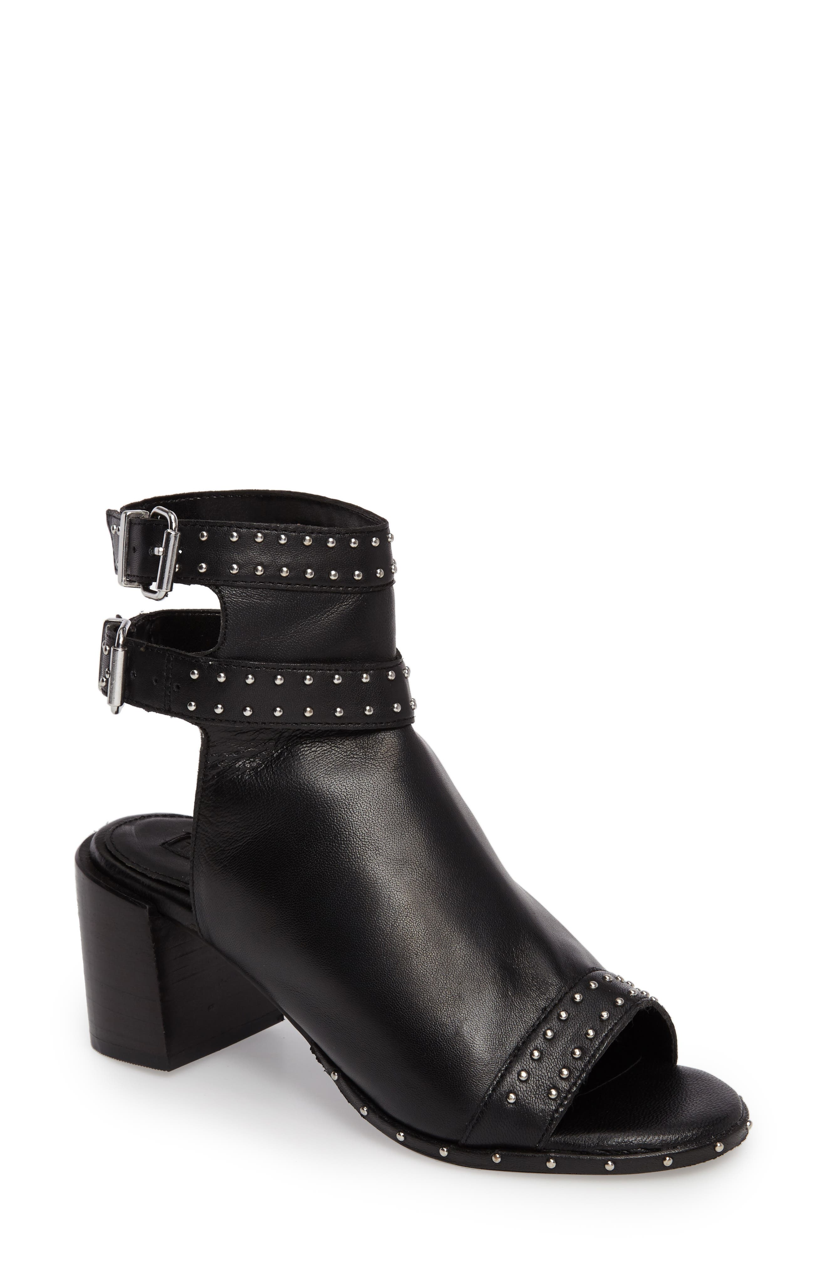 North Studded Bootie Sandal,                             Main thumbnail 1, color,                             001