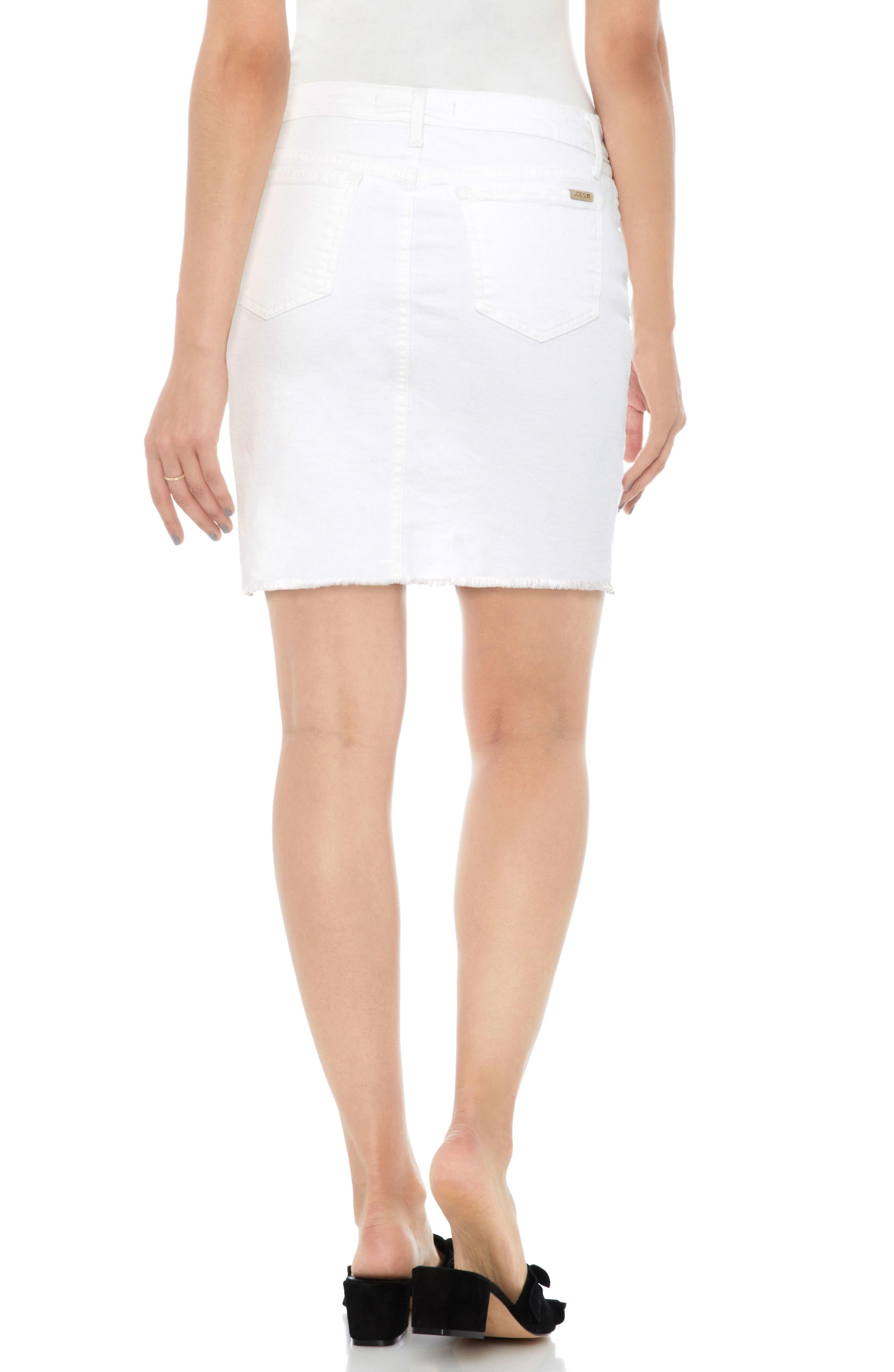 Denim Pencil Skirt,                             Alternate thumbnail 2, color,                             100